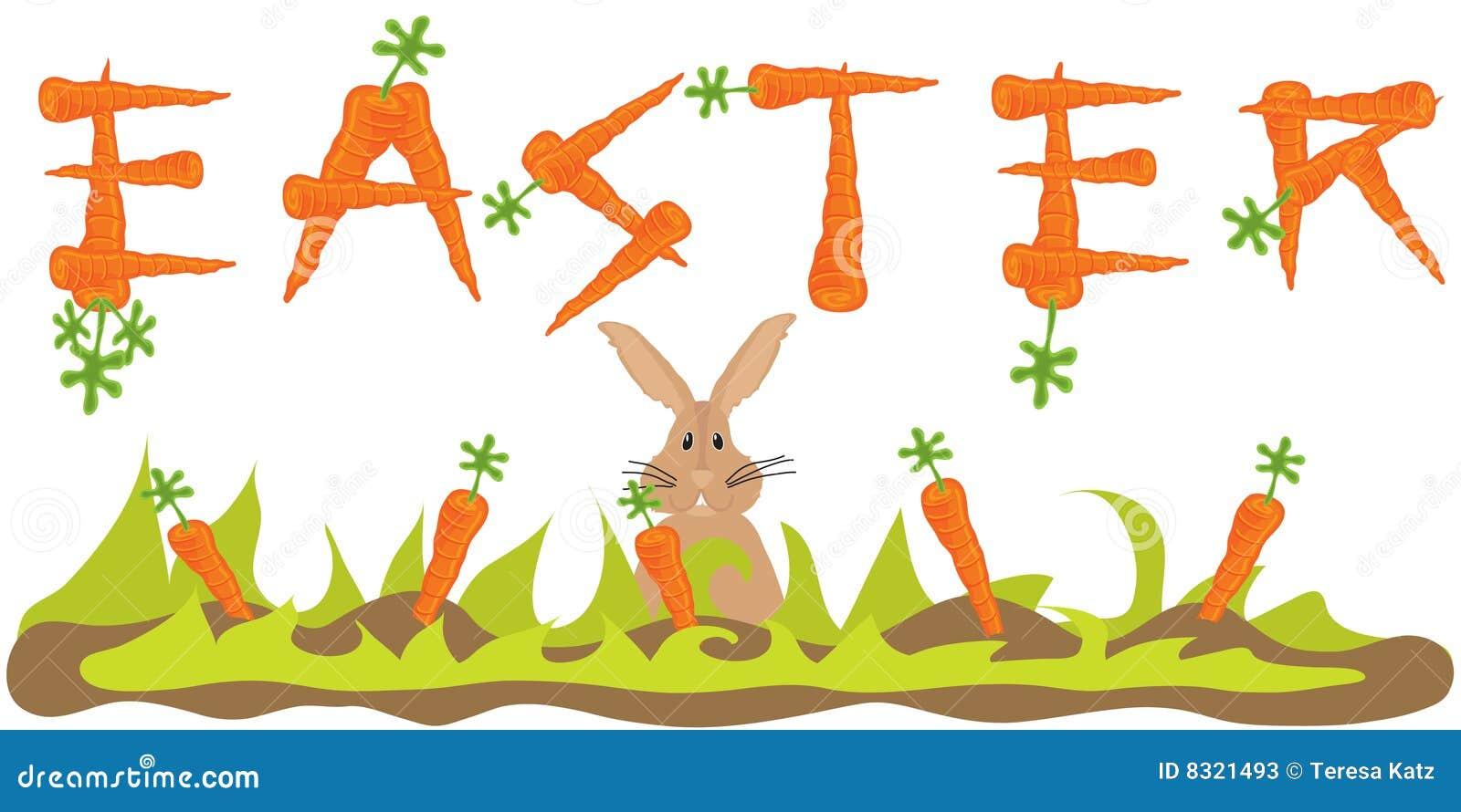 Bunny εμβλημάτων καρότο Πάσχα