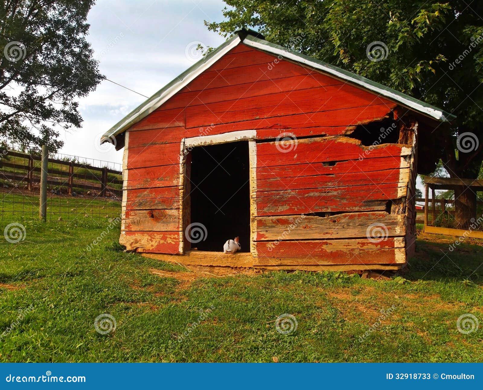 Bunny Barn Stock Image Image Of White Door Hide Rural