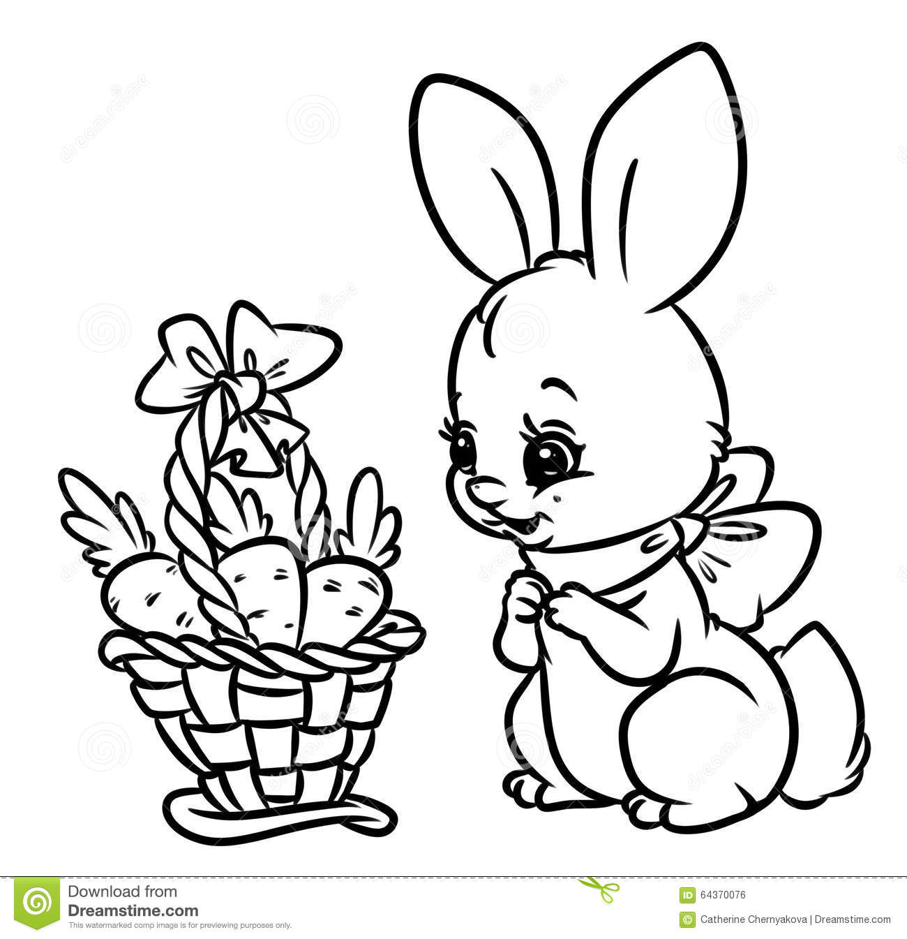 Rabbit eating a carrot coloring pages  Hellokidscom
