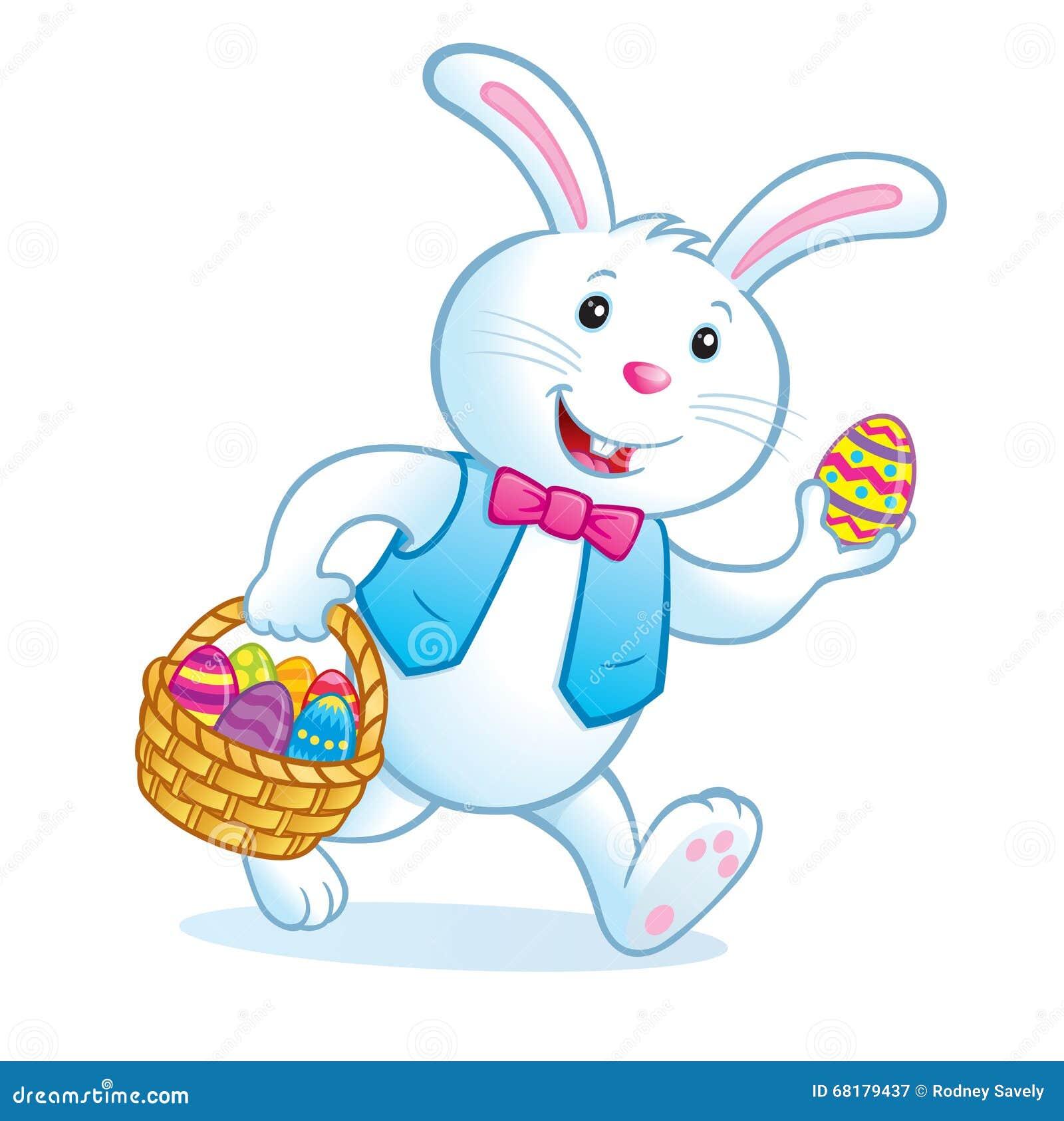 cartoon easter bunny rabbit wearing bow stock photos images