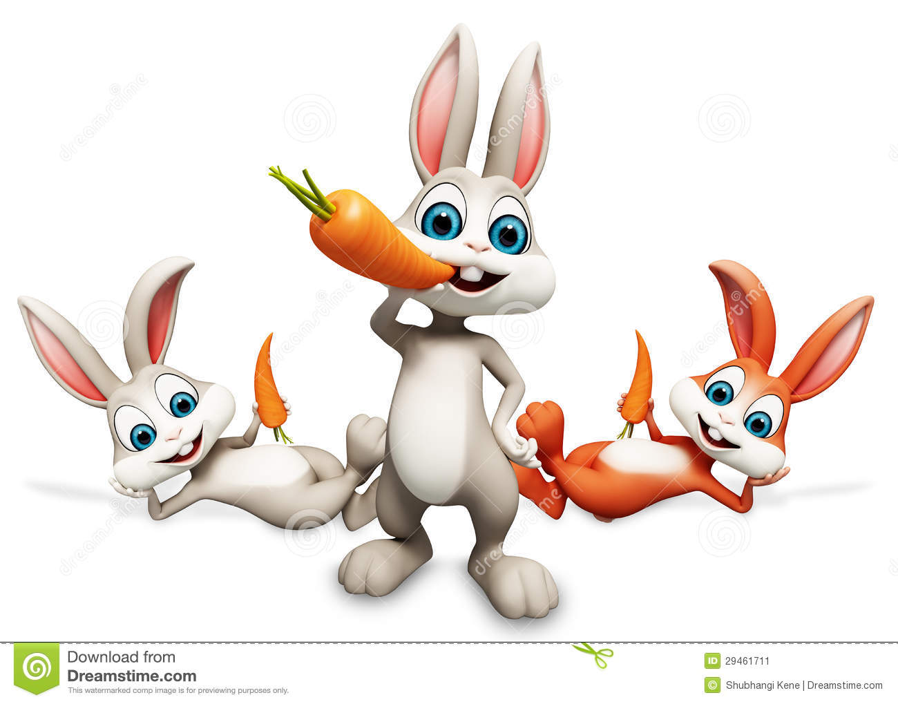 Bunny Eating A Carrot Stock Illustration. Illustration Of