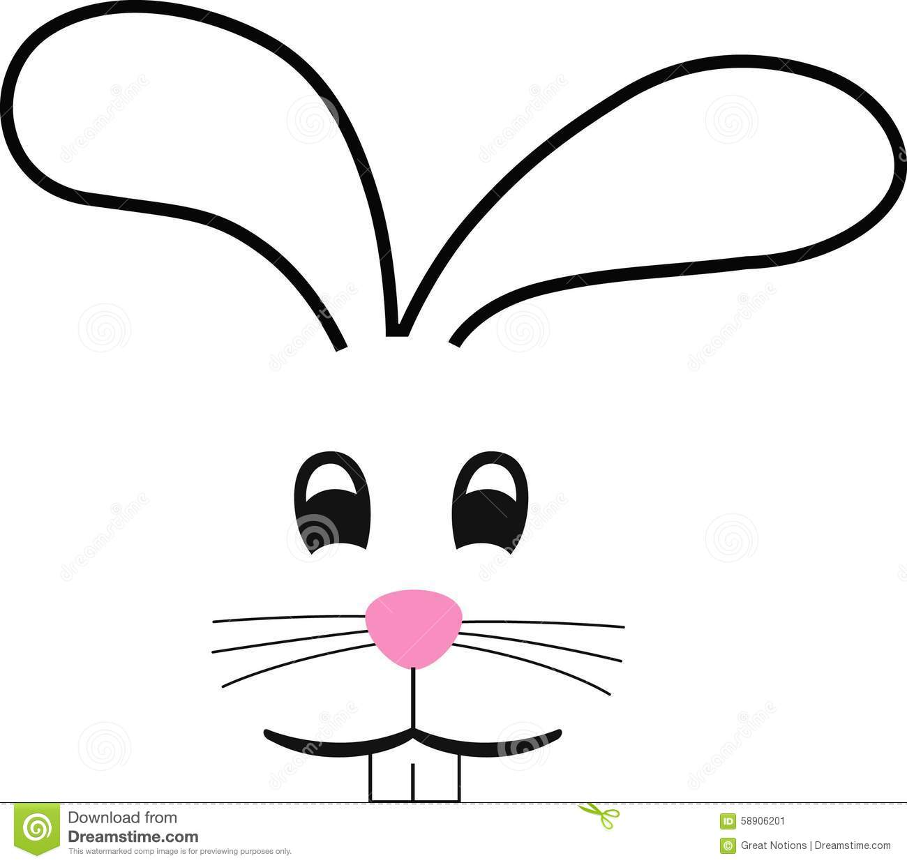 Easter Bunny Face Template Bunny Clipart Template Pencil And In