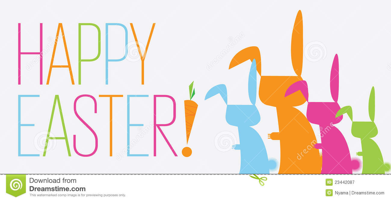 Bunny Happy Easter Banner Royalty Free Stock Photography ...
