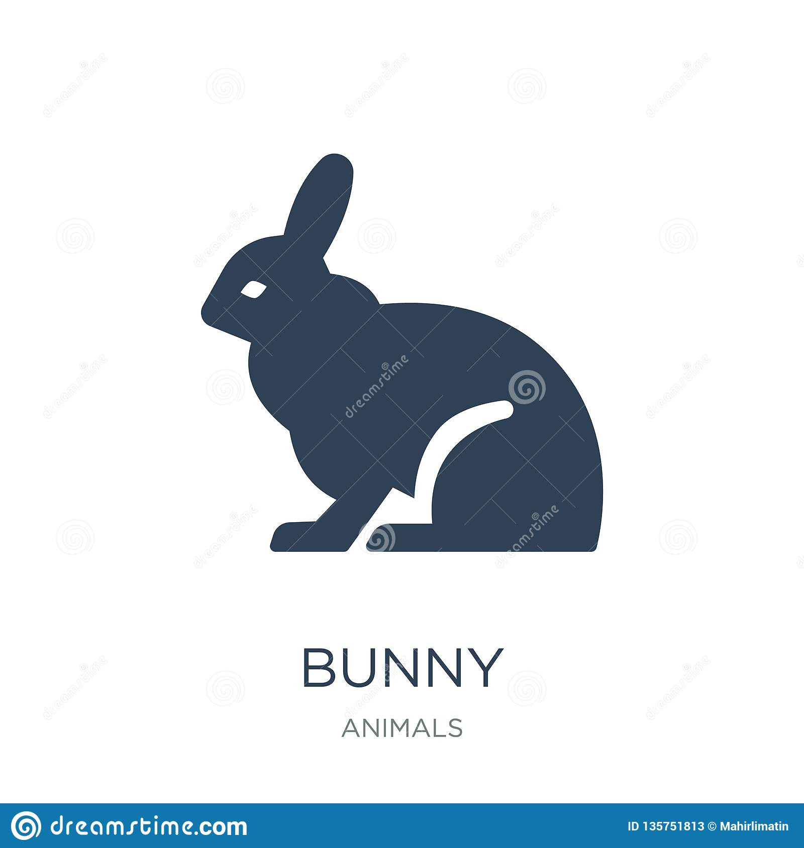 bunny icon in trendy design style. bunny icon isolated on white background. bunny vector icon simple and modern flat symbol for