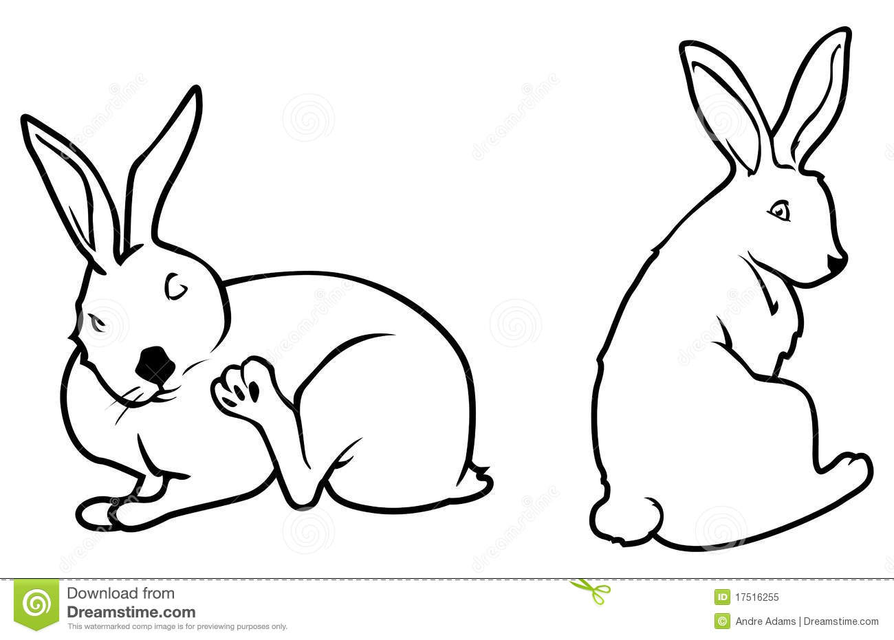 Bunny Outlines Royalty Free Stock Photo - Image: 17516255