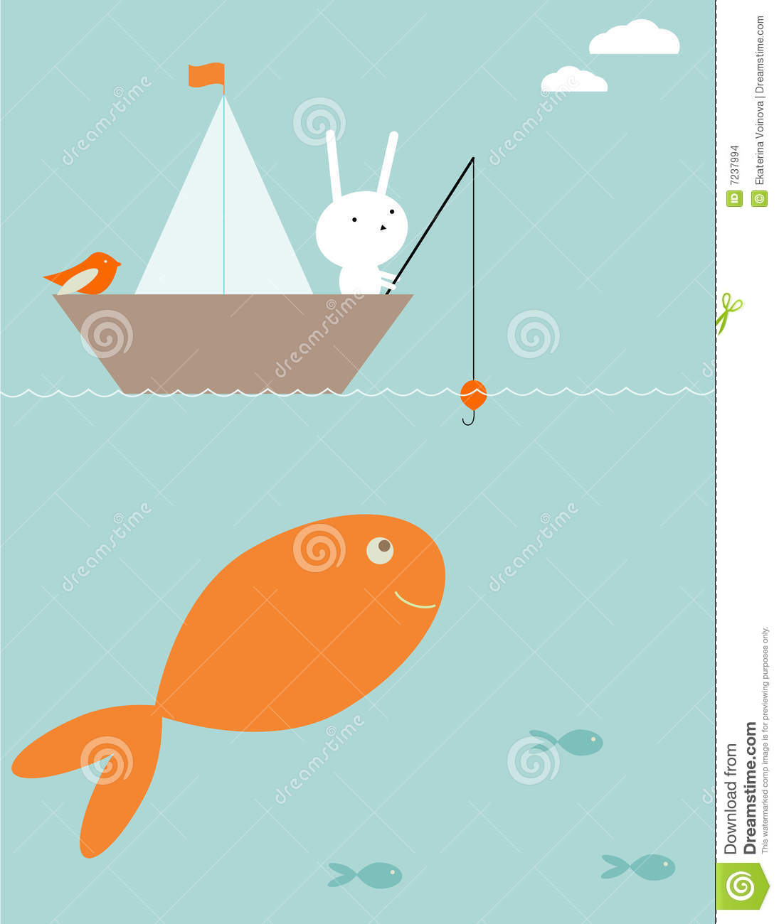 Bunny Surprise Fishing Stock Images - Image: 7237994