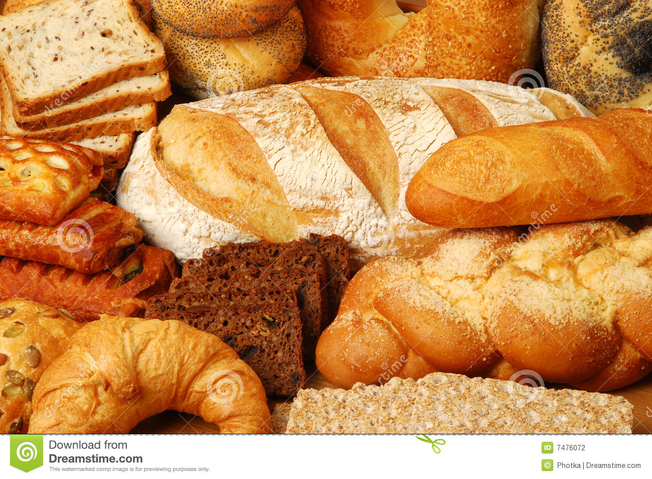 Buns Bread And Cakes Stock Photo Image Of Bread