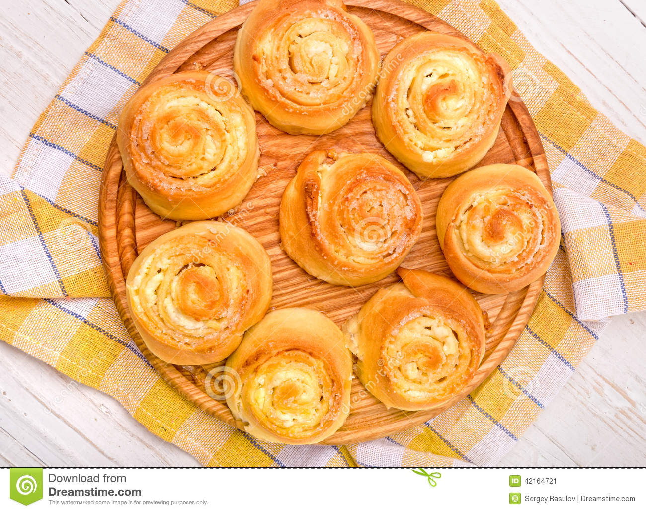 Buns With Cottage Cheese Stock Photo - Image: 42164721