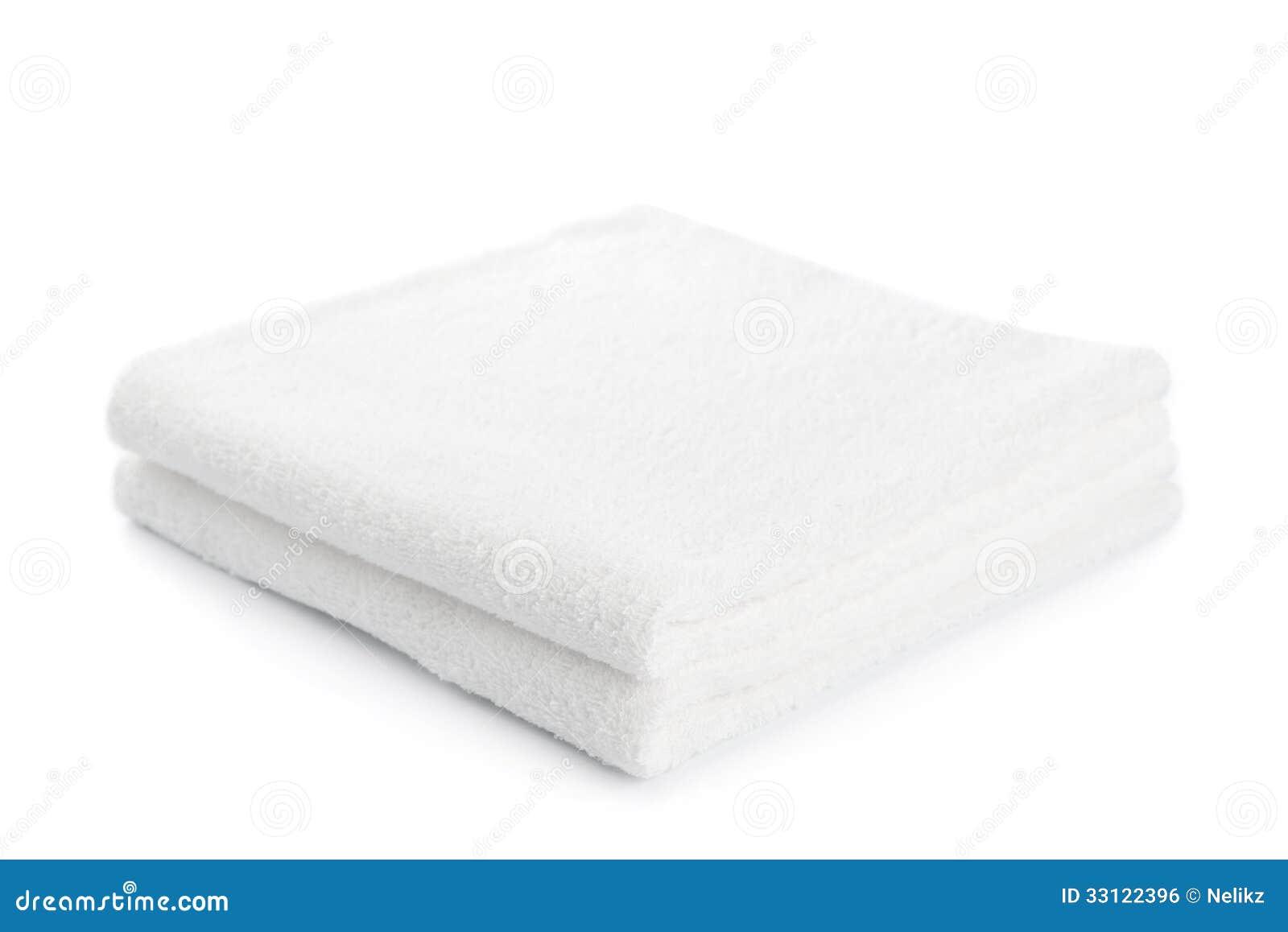 Bunt av isolerade vita handdukar