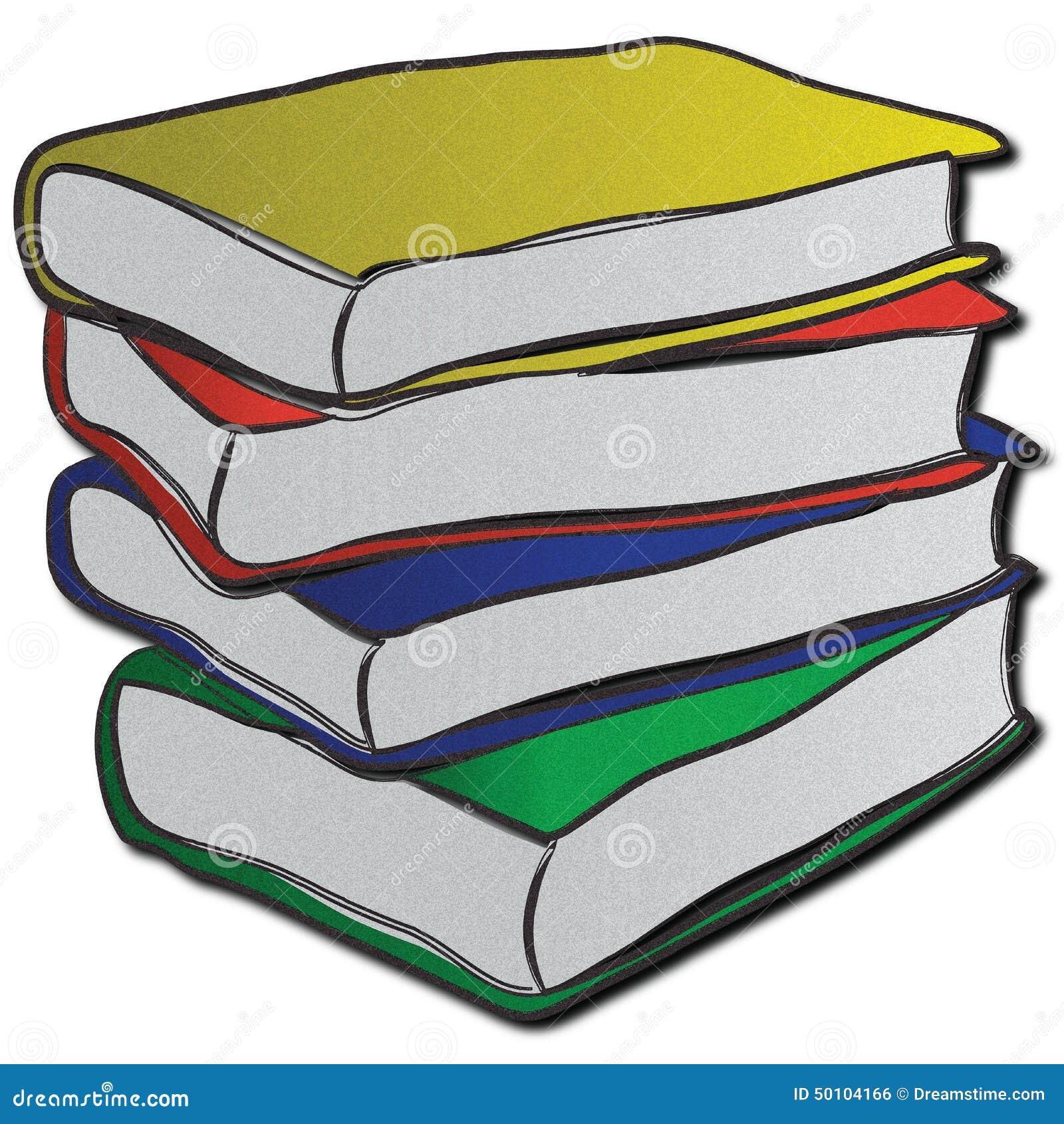Bunt av mång--färgade böcker