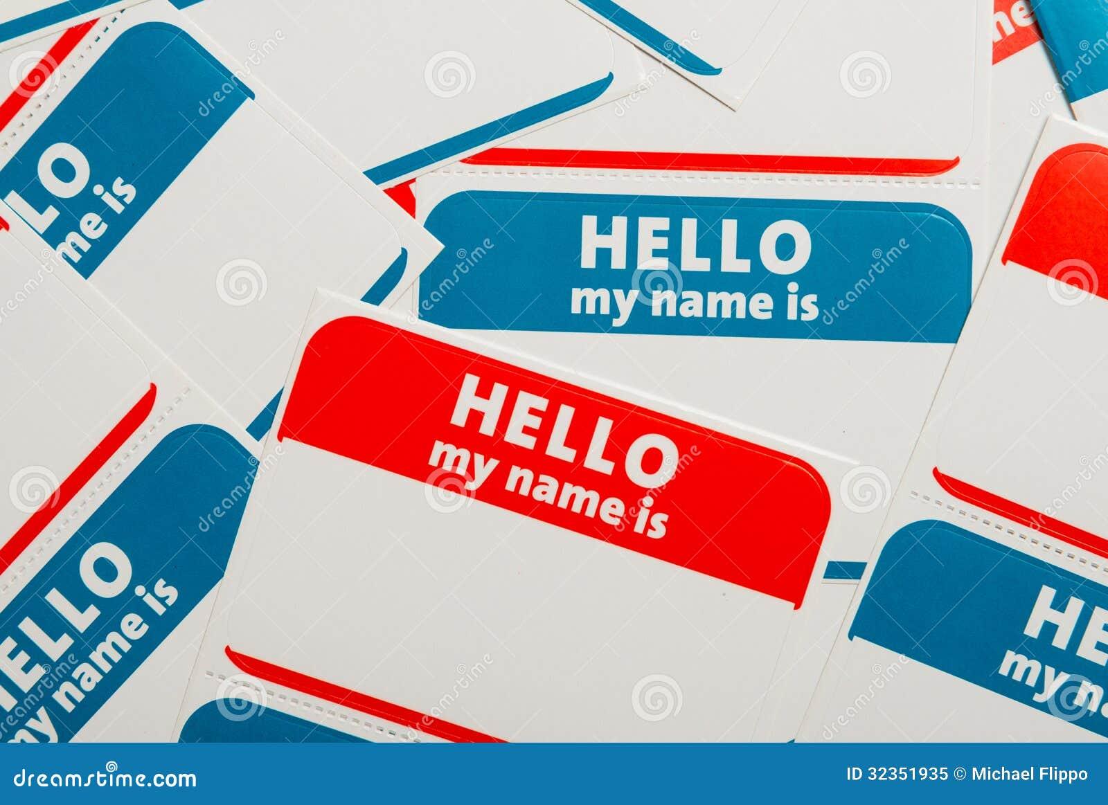 Bunt av namnetiketter eller emblem