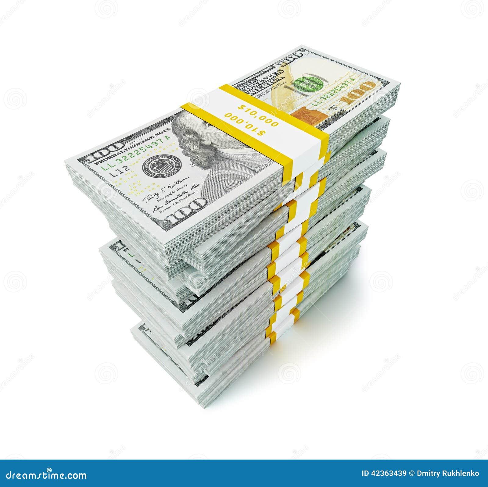 Bunt av nya 100 US dollar upplagasedlar 2013 (räkningar) s