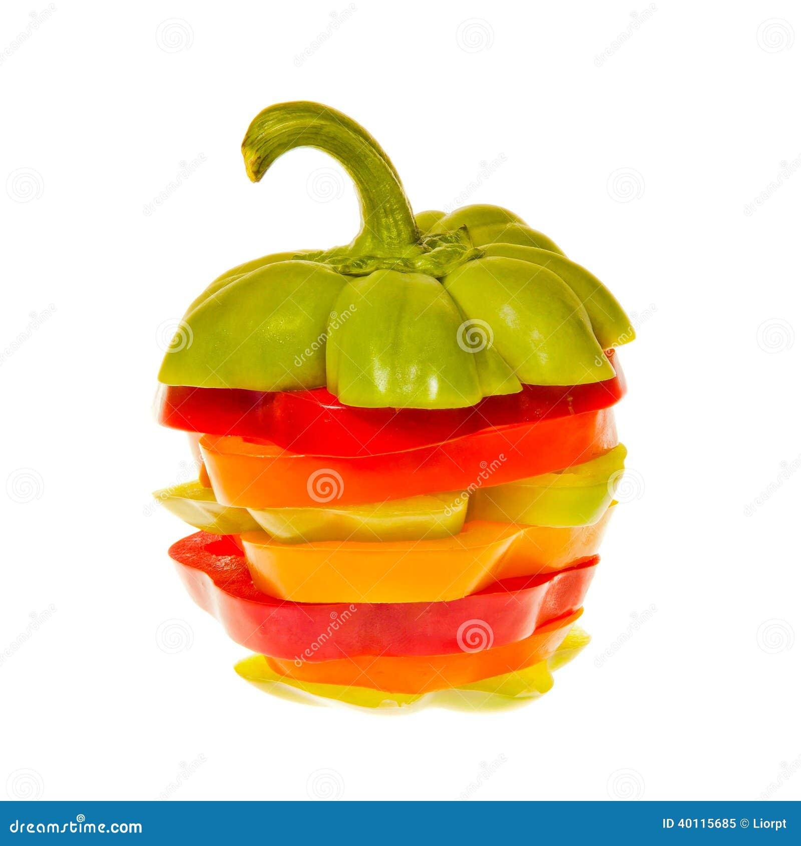 Bunt av Sliced spanska peppar