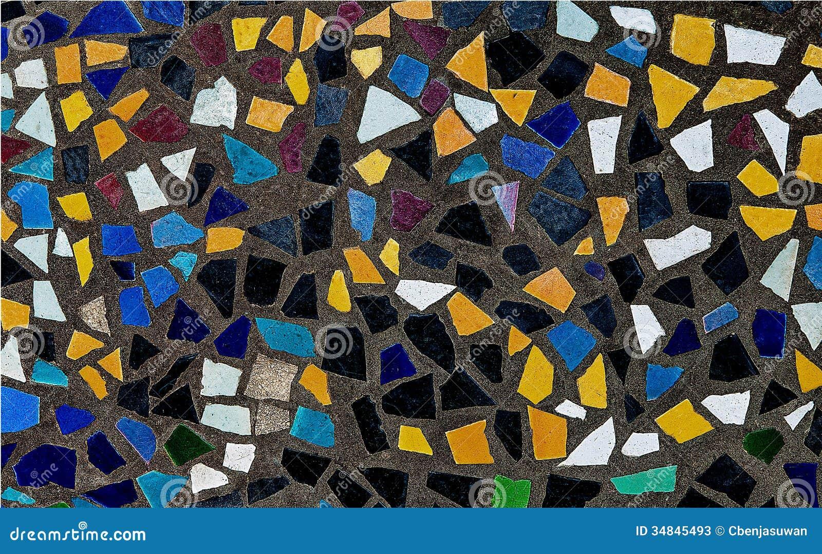 bunt von den mosaikfliesen stockbild bild von hell innen 34845493. Black Bedroom Furniture Sets. Home Design Ideas