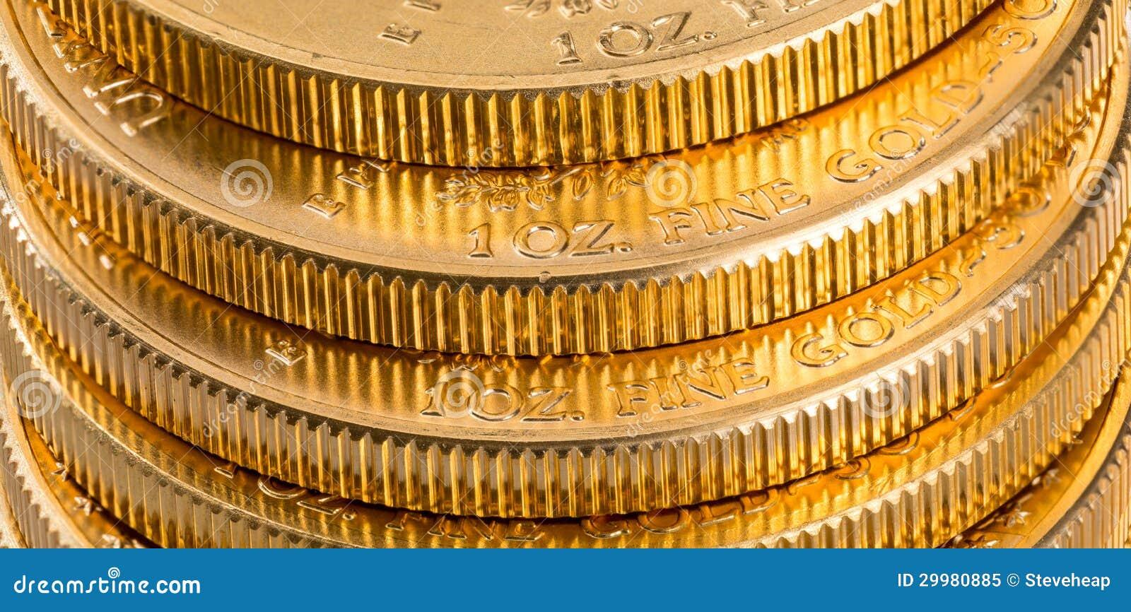 Samlingen av ett uns guld- myntar