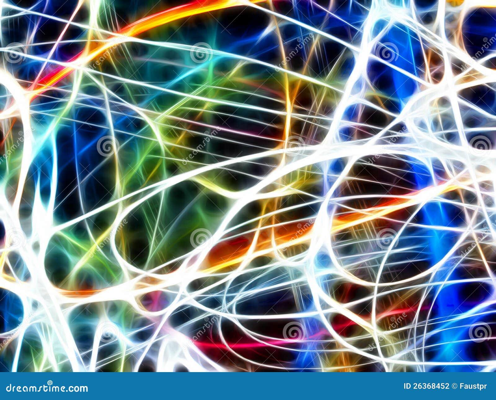 Bunte abstrakte Leuchte (Fractalhintergrund)