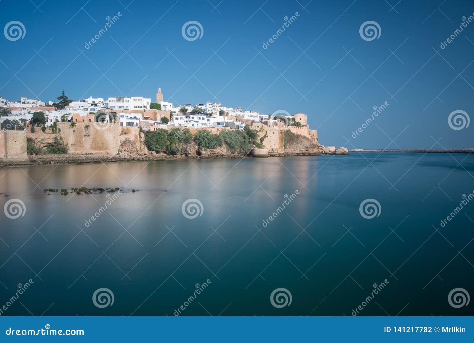 Bunte Ansicht des Kasbah DES Udayas mit einer langen Belichtung Rabat, Marokko