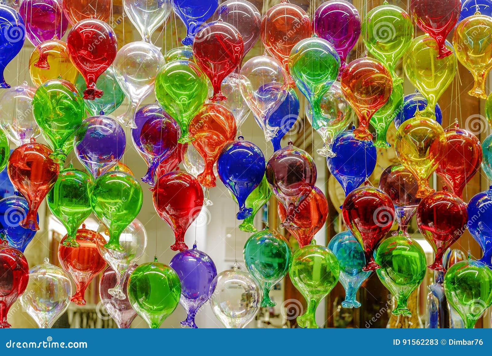 bunte ballone von murano glas stockfoto bild 91562283. Black Bedroom Furniture Sets. Home Design Ideas