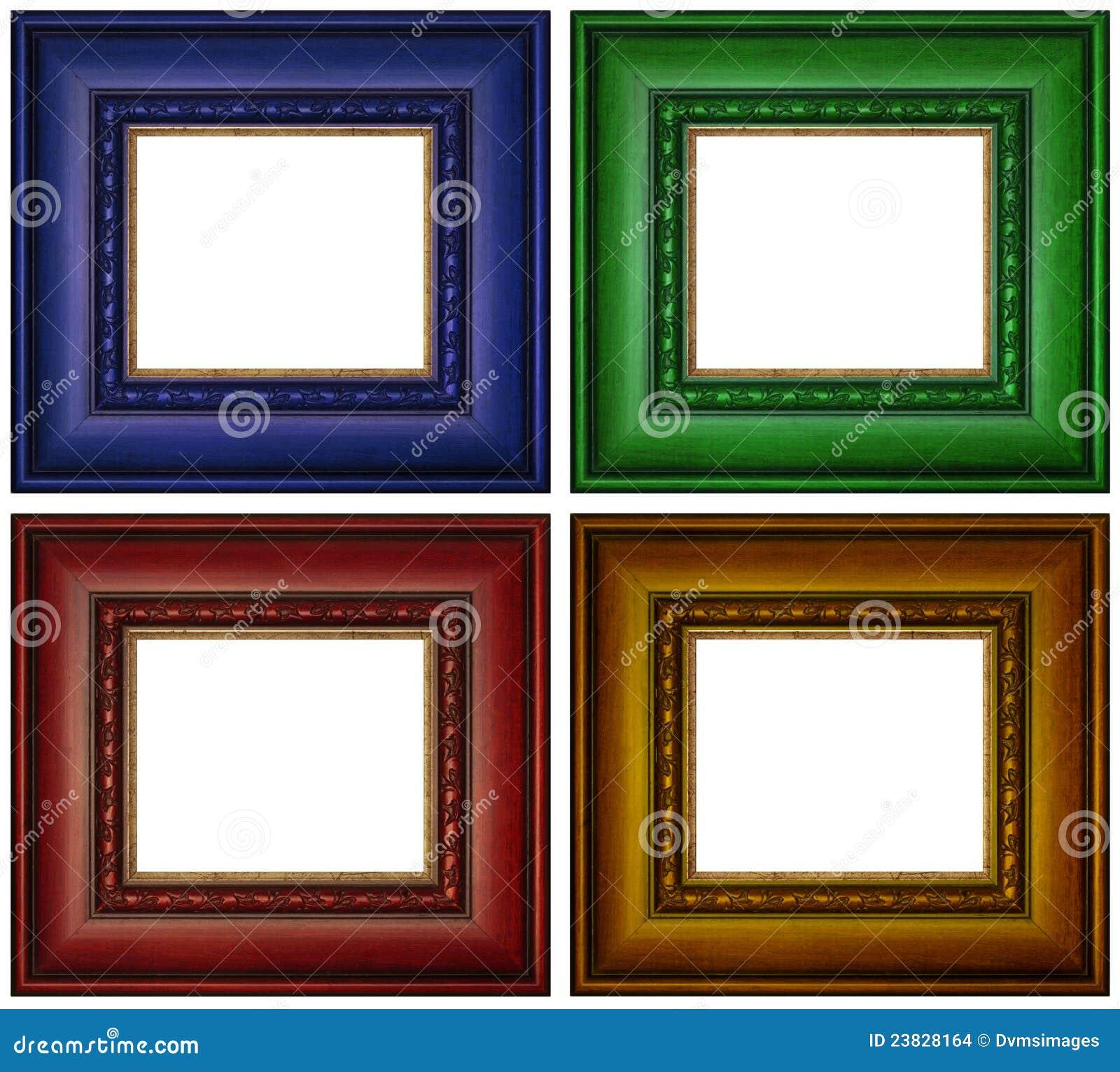 Bunte Bilderrahmen stockfoto. Bild von aufwendig, viereck - 23828164