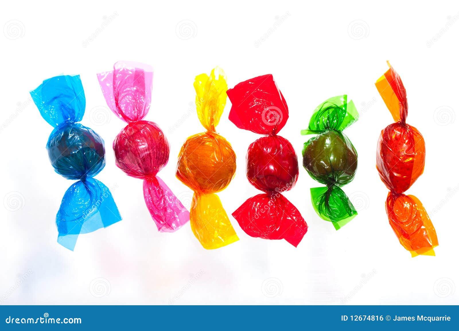 Bunte Bonbons Stockfoto Bild Von Konfektionsartikel 12674816