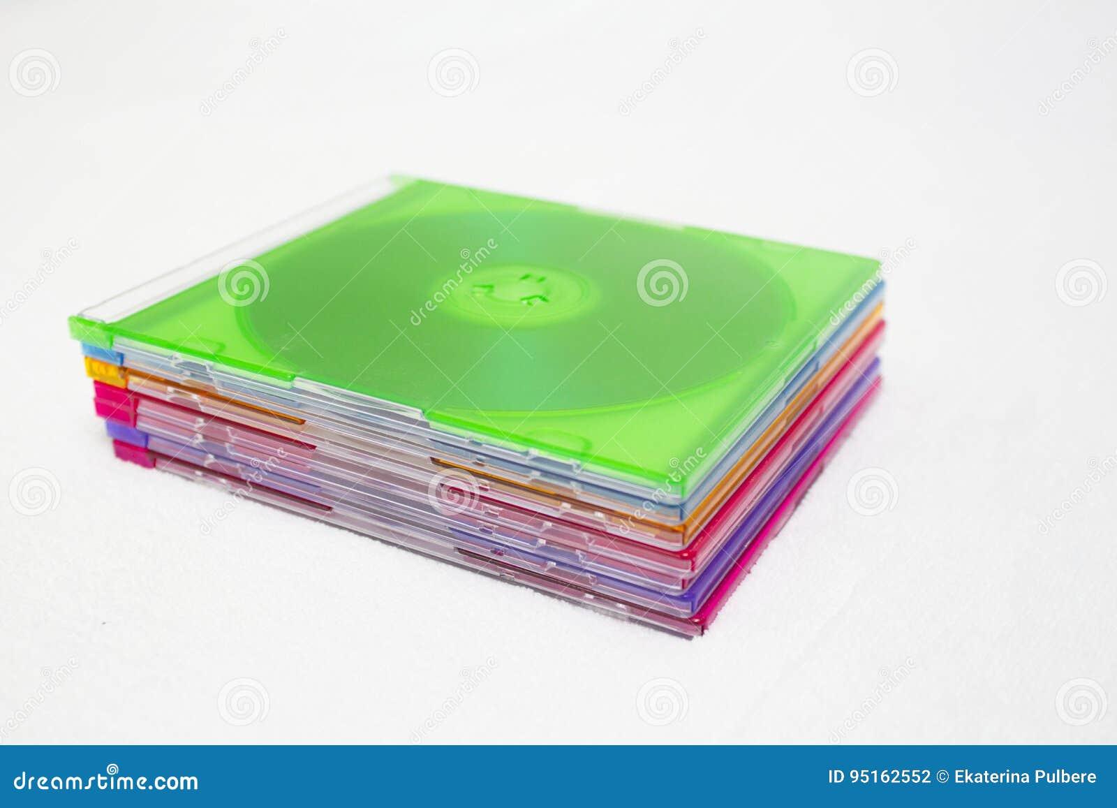 Bunte CDs der CD oder DVD