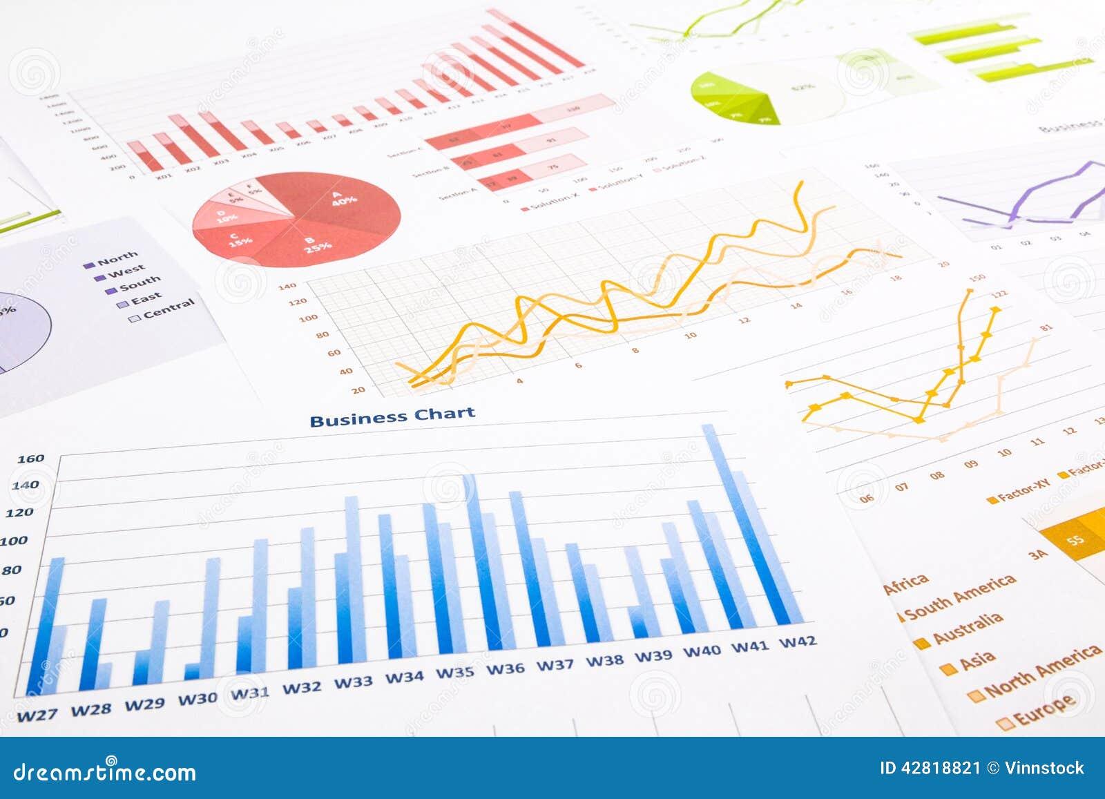 Bunte Diagramme, Diagramme, Marktforschung Und Geschäftsjahrbuch ...