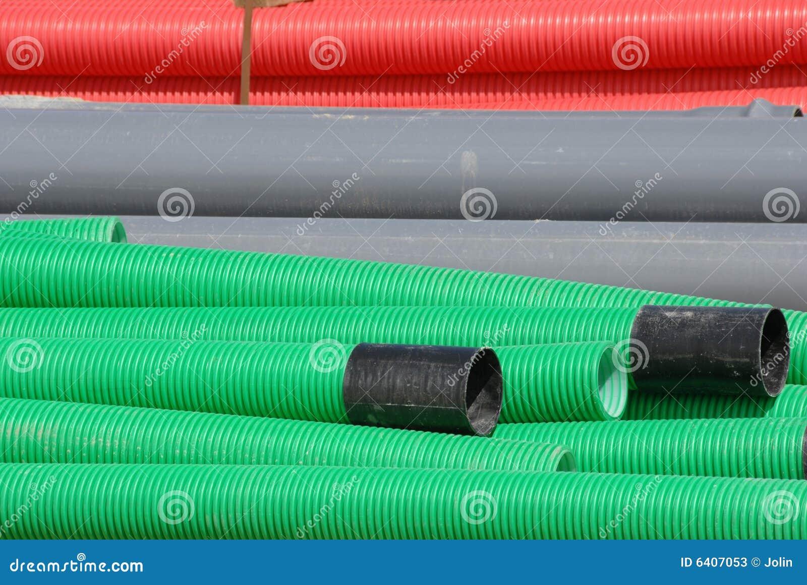 Erstaunlich Bunte Flexible Rohre In Der Baustelle Stockfotos - Bild: 6407053 QI62