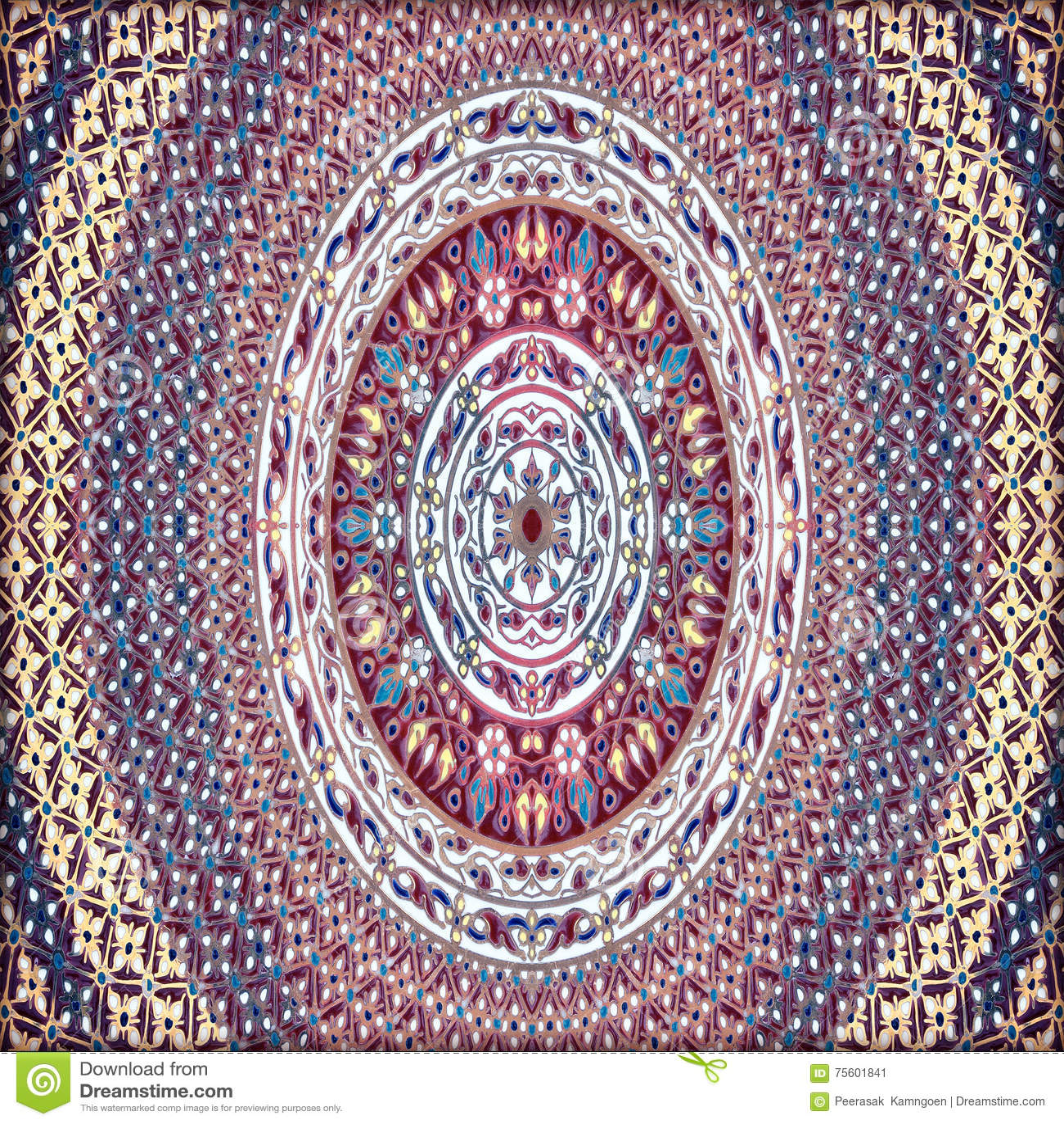 Bunte Fliesen Mosaik Keramischer Hintergrund Stockbild Bild Von