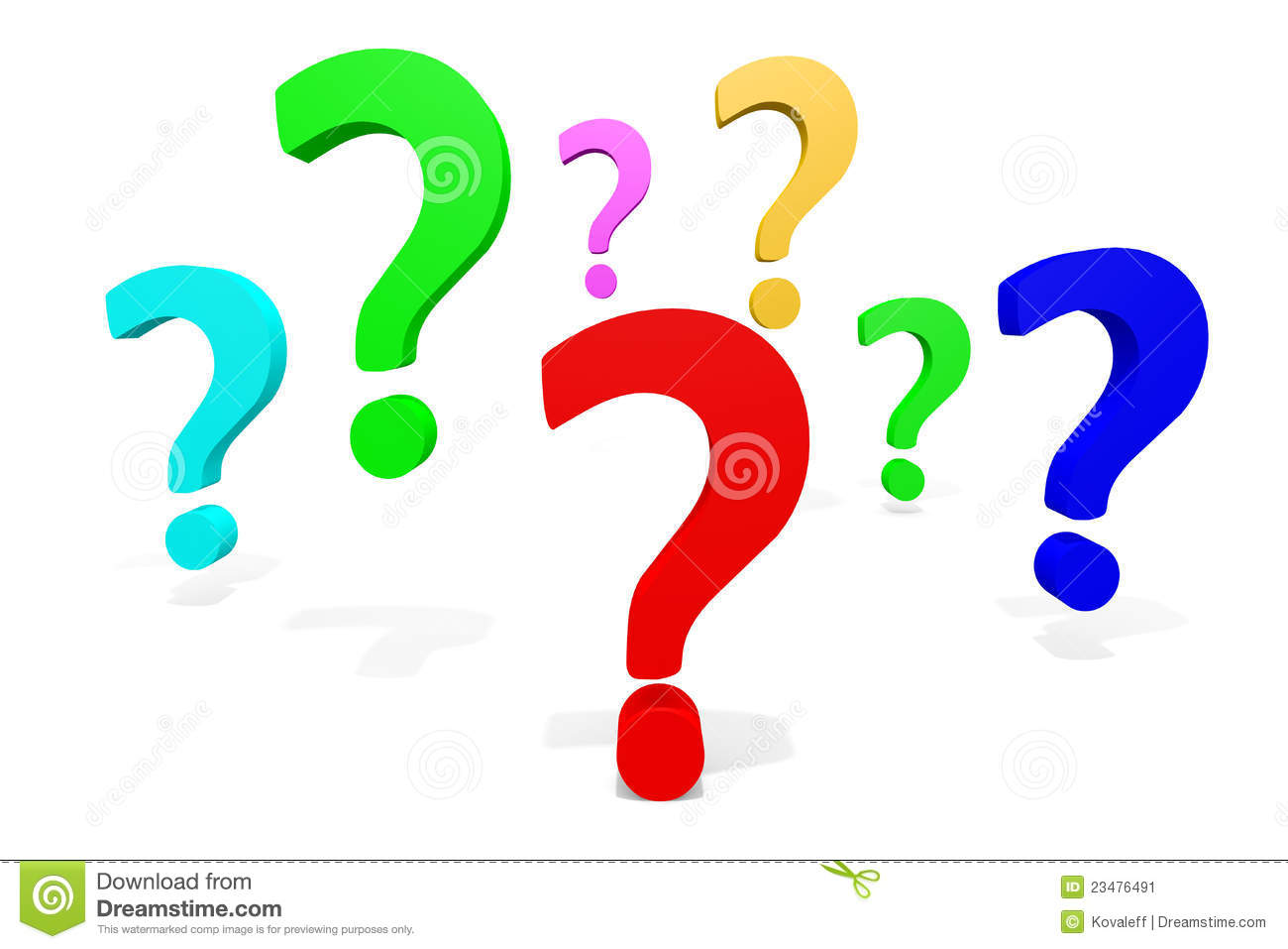 Question Mark Clip Art Png Bunte Fragezeic...