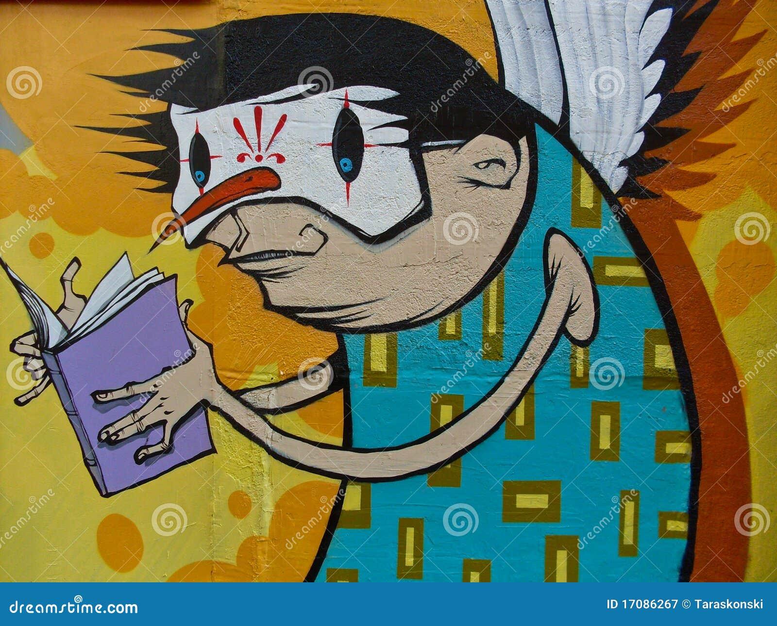 Bunte Graffiti.