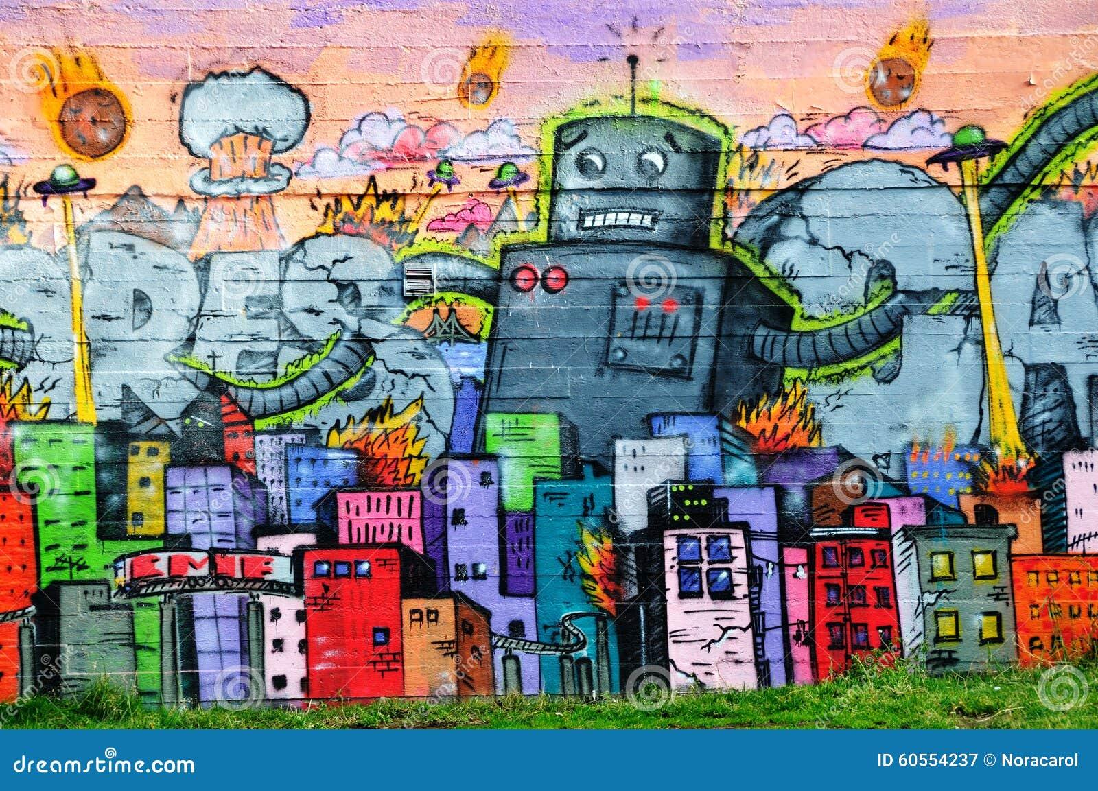 Bunte Graffiti in Reykjavik