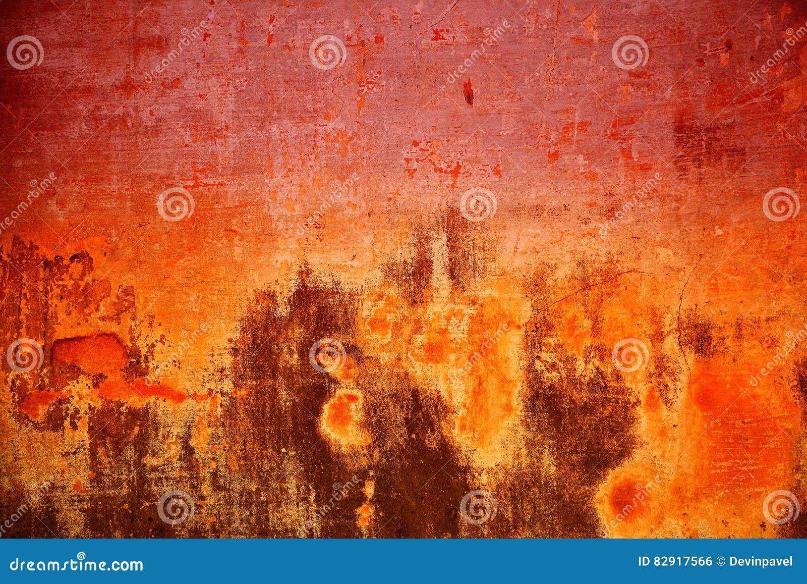 Bunte Hintergrundbeschaffenheits-Zementwand Abstrakte Beschaffenheit ähnlich Feuer