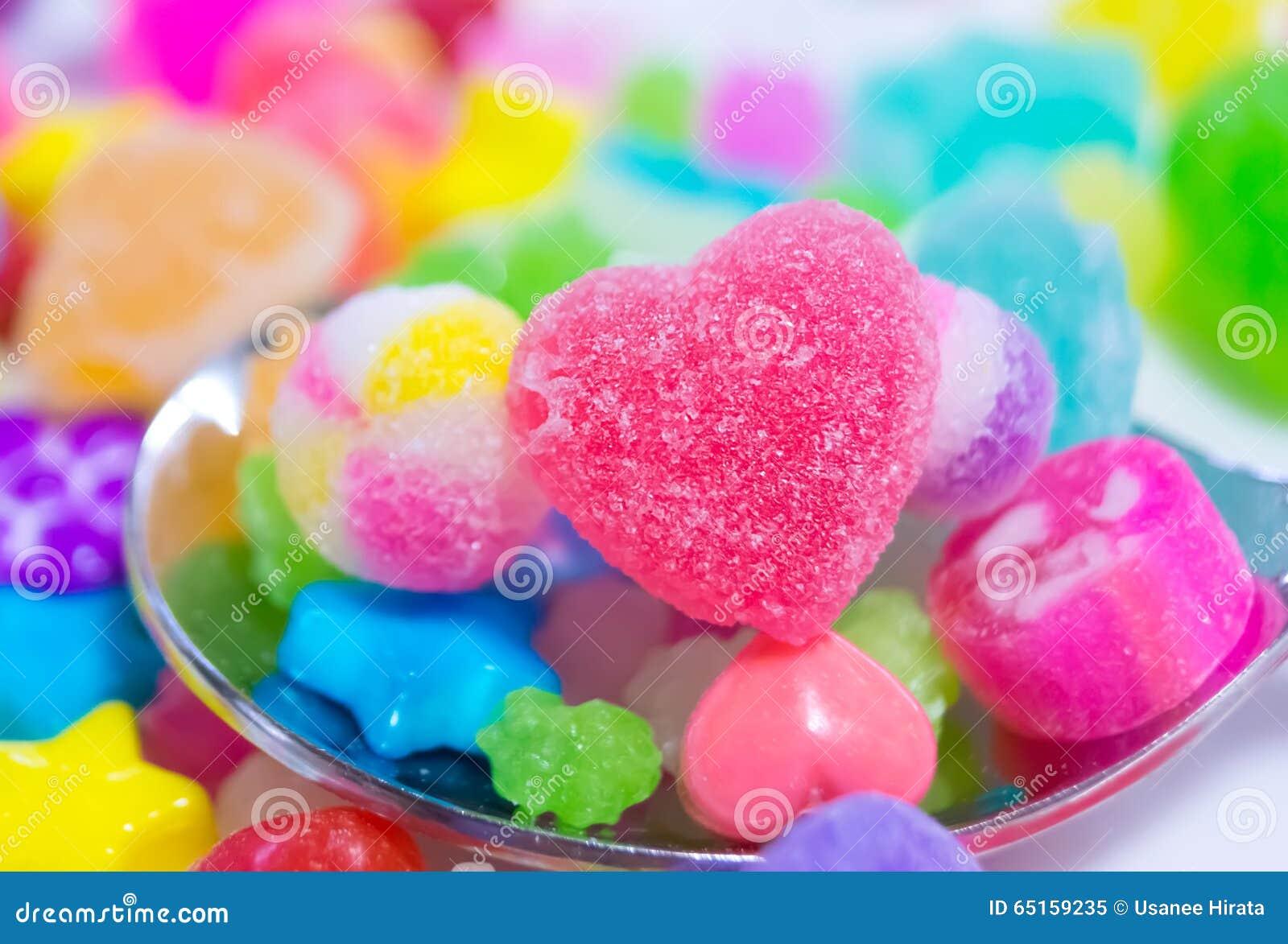 Bunte japanische Süßigkeit