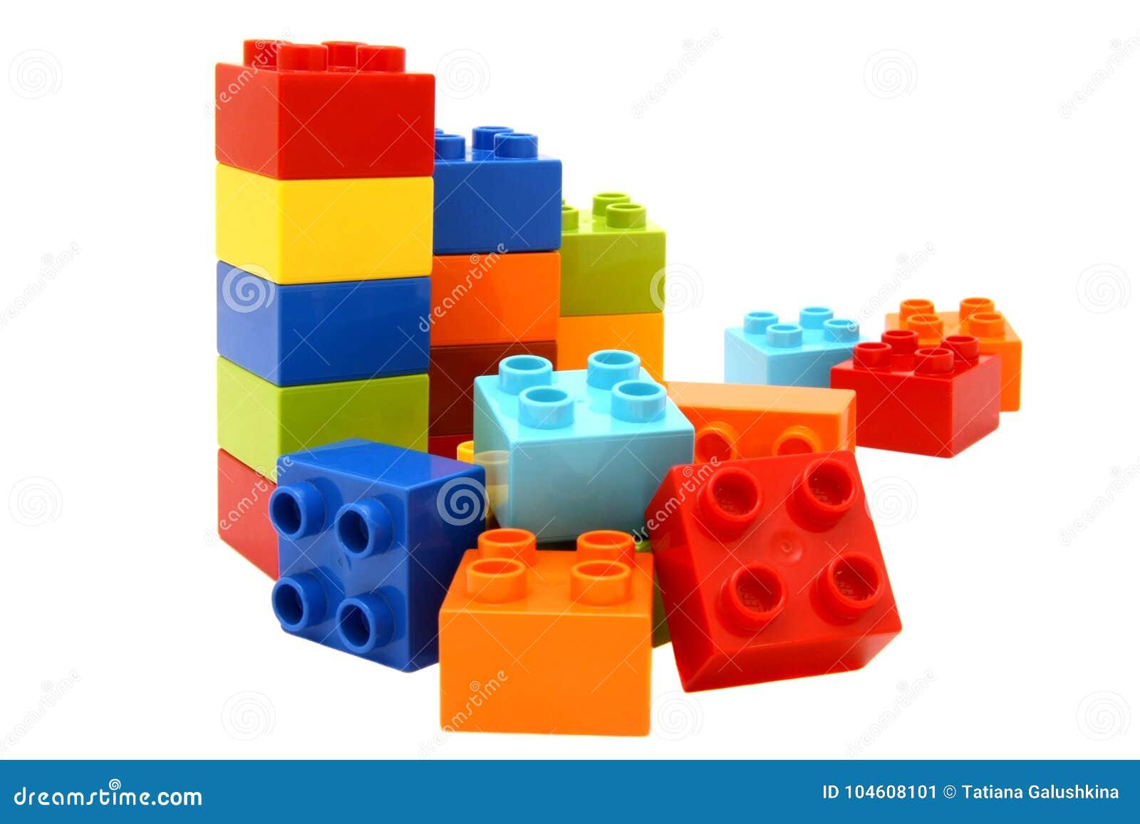 bunte lego bausteine stockbild. bild von orange, viele - 104608101