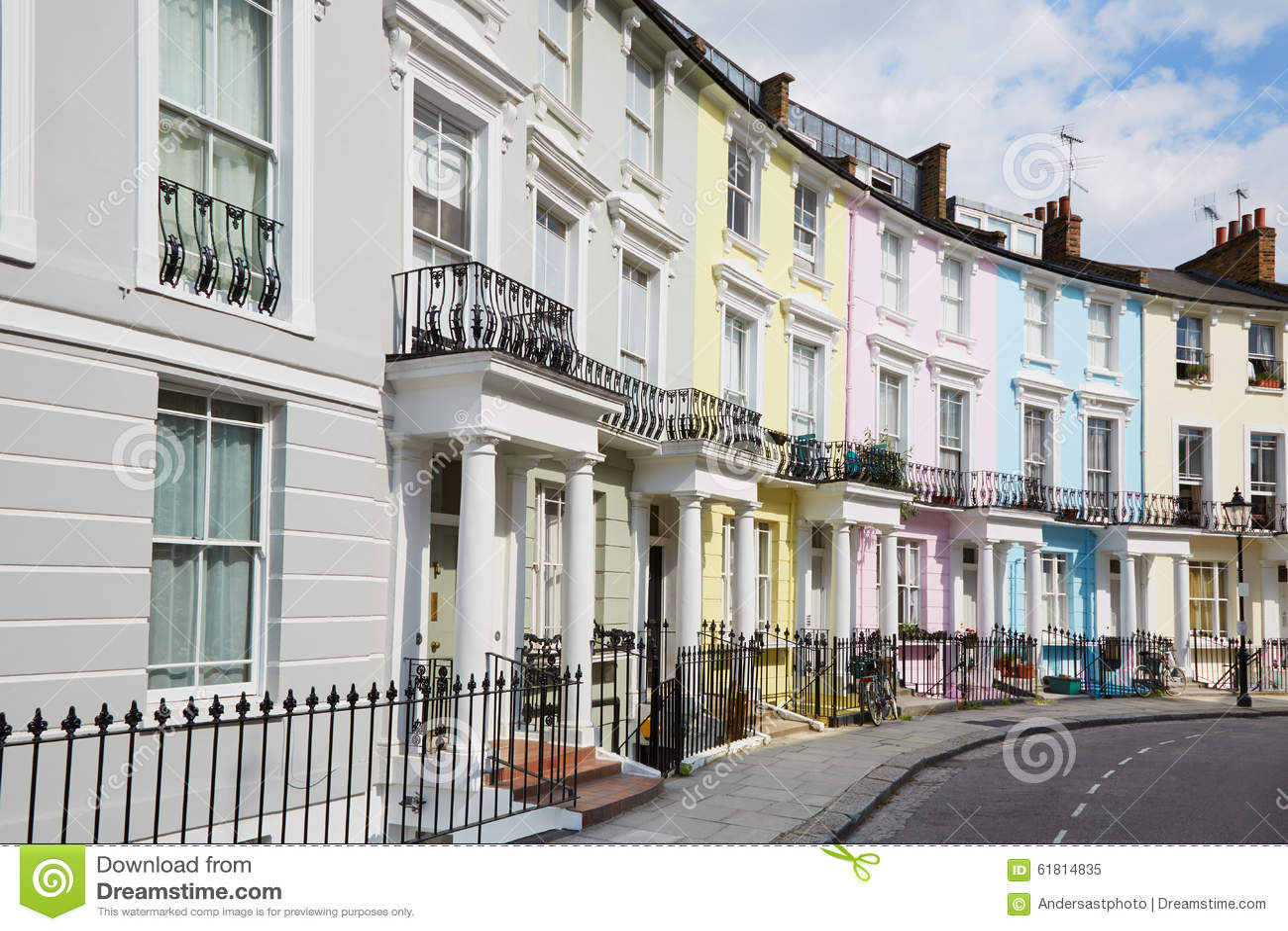 bunte london h user im primelh gel stockfoto bild 61814835. Black Bedroom Furniture Sets. Home Design Ideas