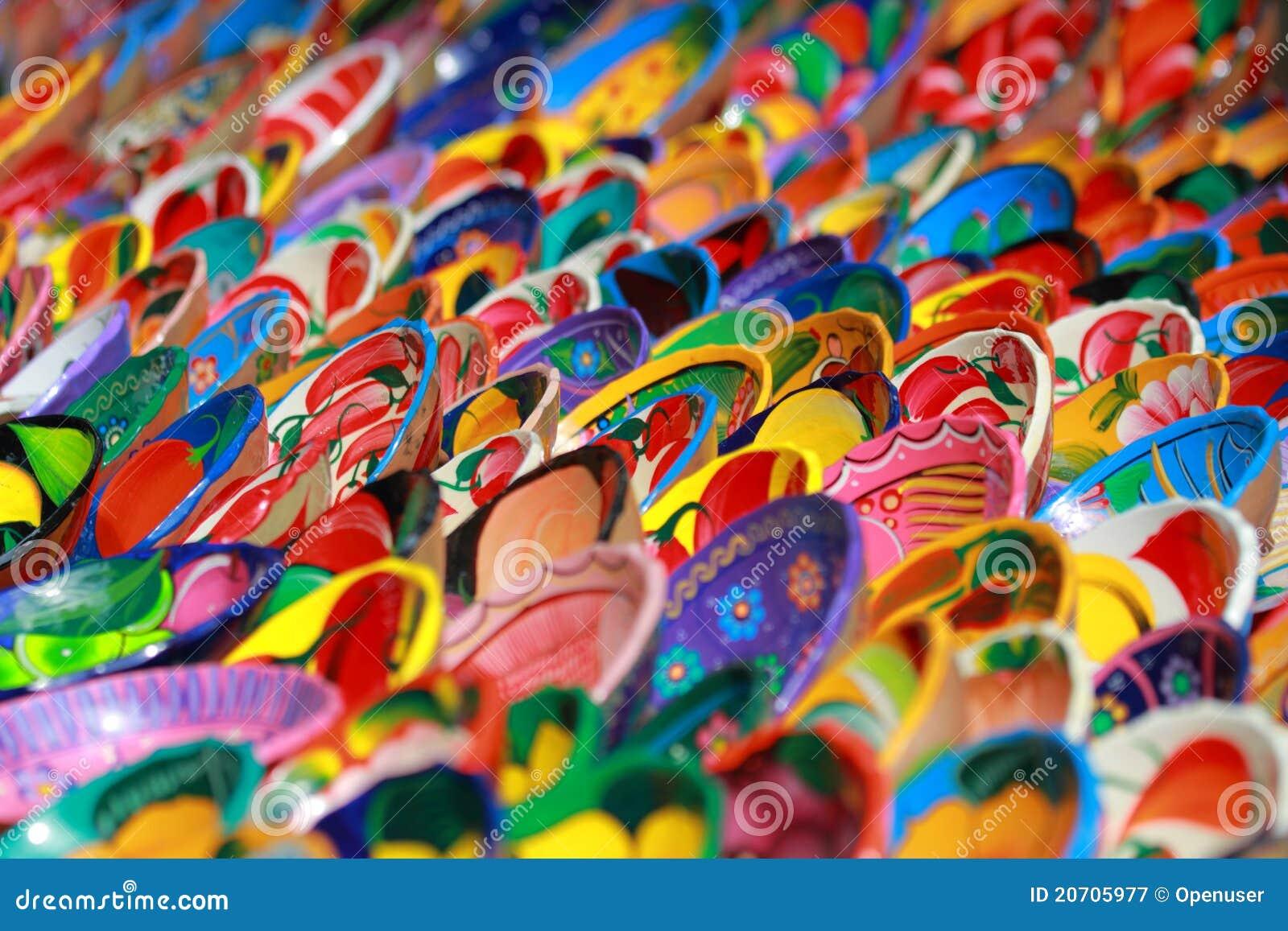 Bunte mexikanische dekoration keramische sch sseln for Mexikanische dekoration