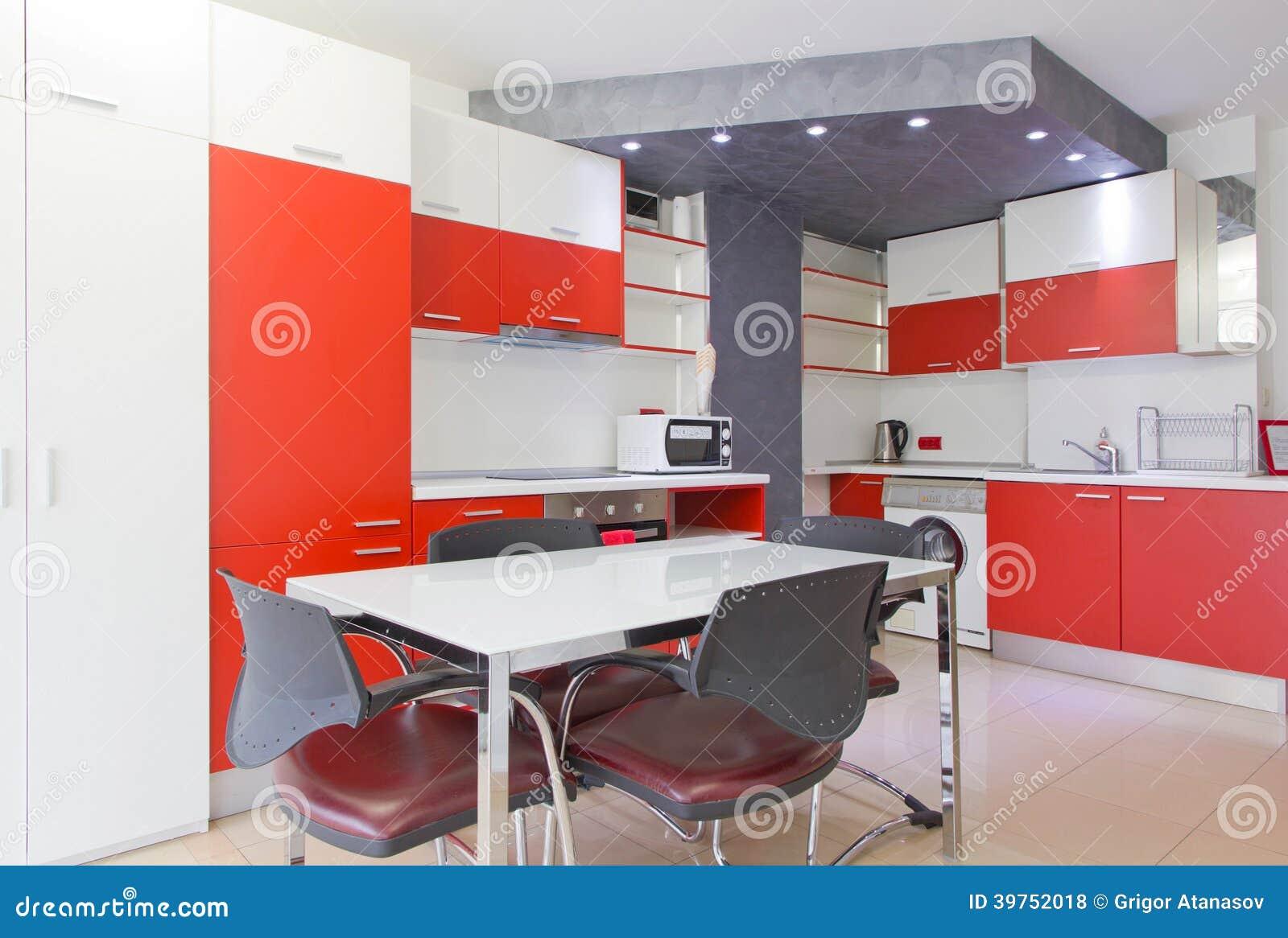 Bunte moderne Küche
