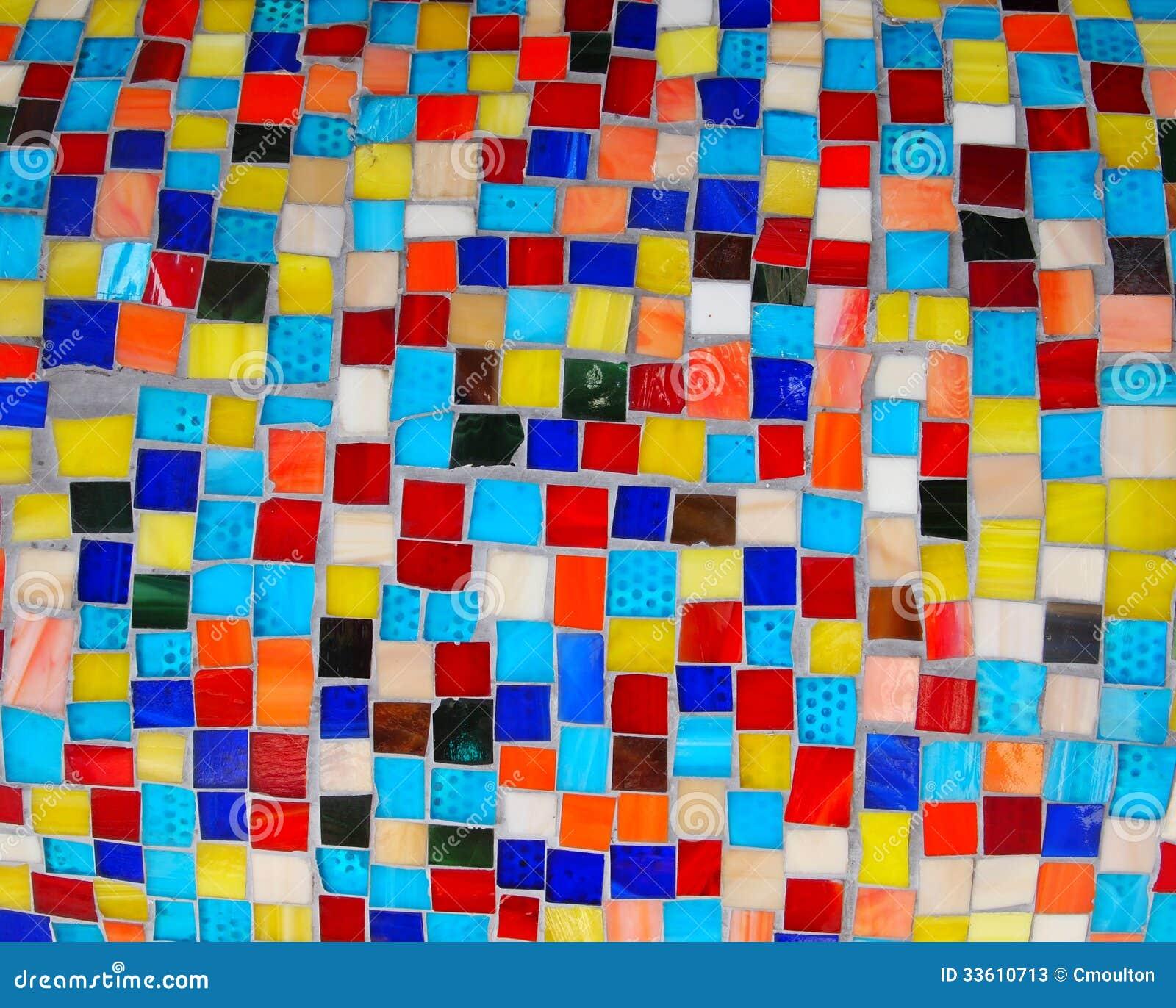 bunte quadrat mosaik fliesen stockfotos bild 33610713. Black Bedroom Furniture Sets. Home Design Ideas