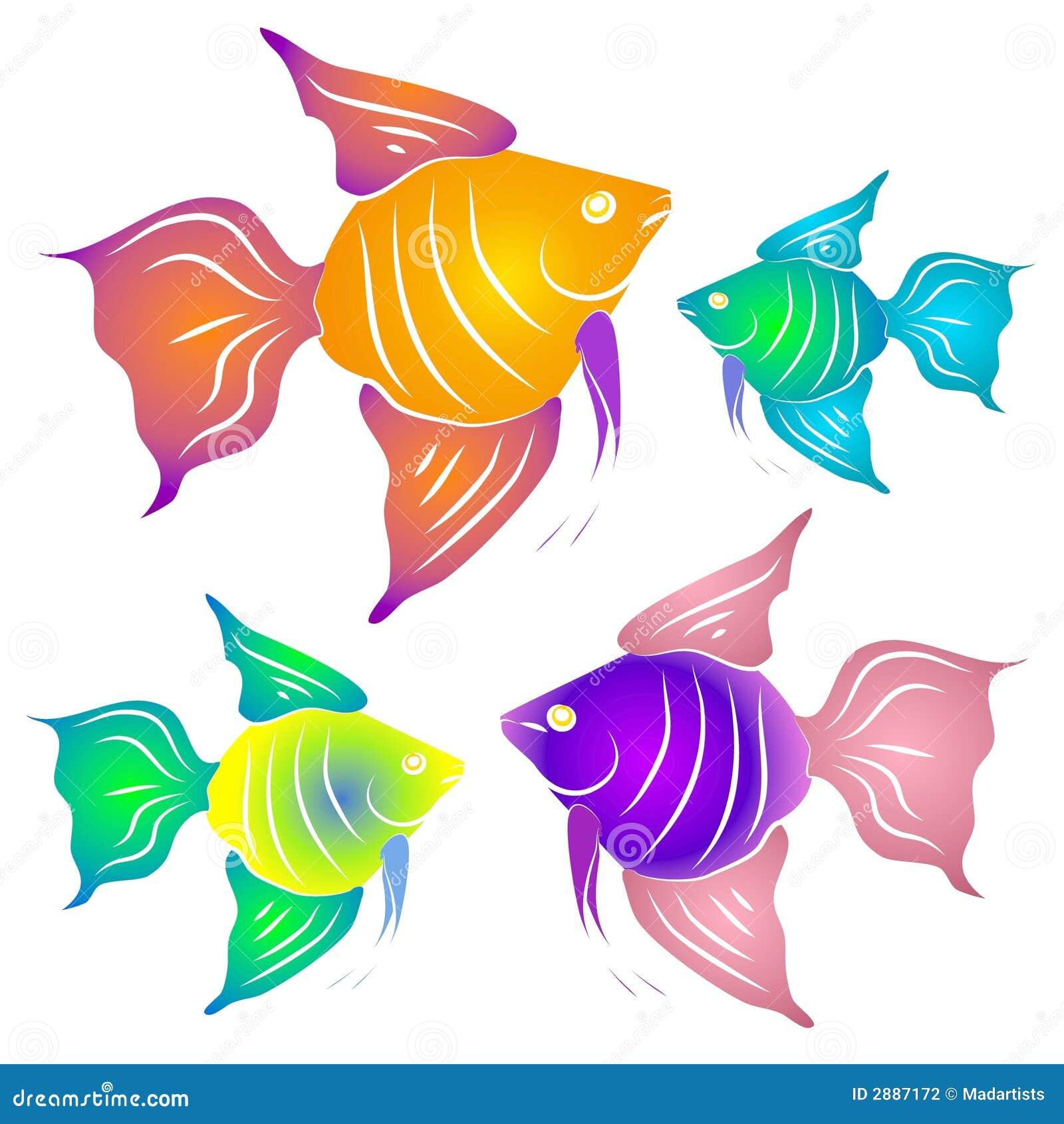 Bunte Tropische Fische Clipart Stock Abbildung - Illustration von ...
