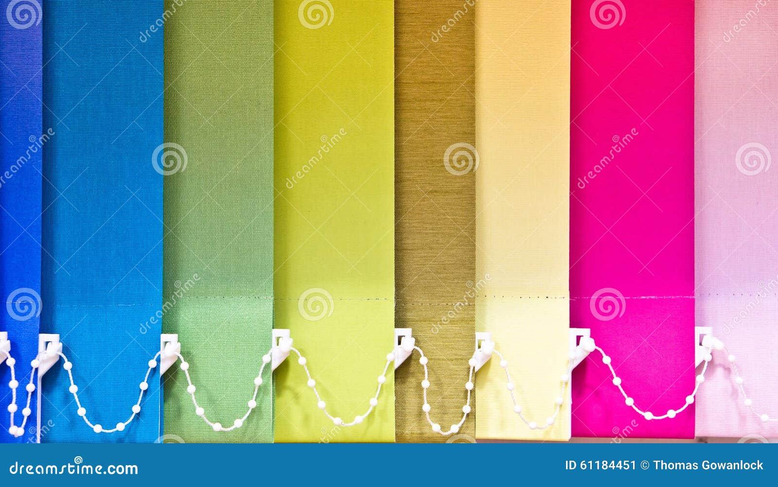 Bunte Vorhange Stockbild Bild Von Innen Leuchte Blau 61184451
