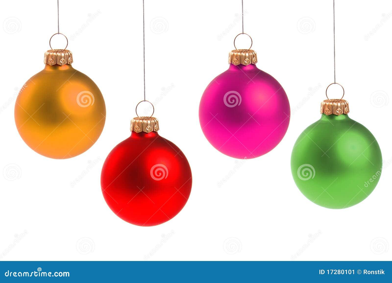 Bunte weihnachtskugeln stockbild bild von getrennt farbe for Weihnachtskugeln bilder