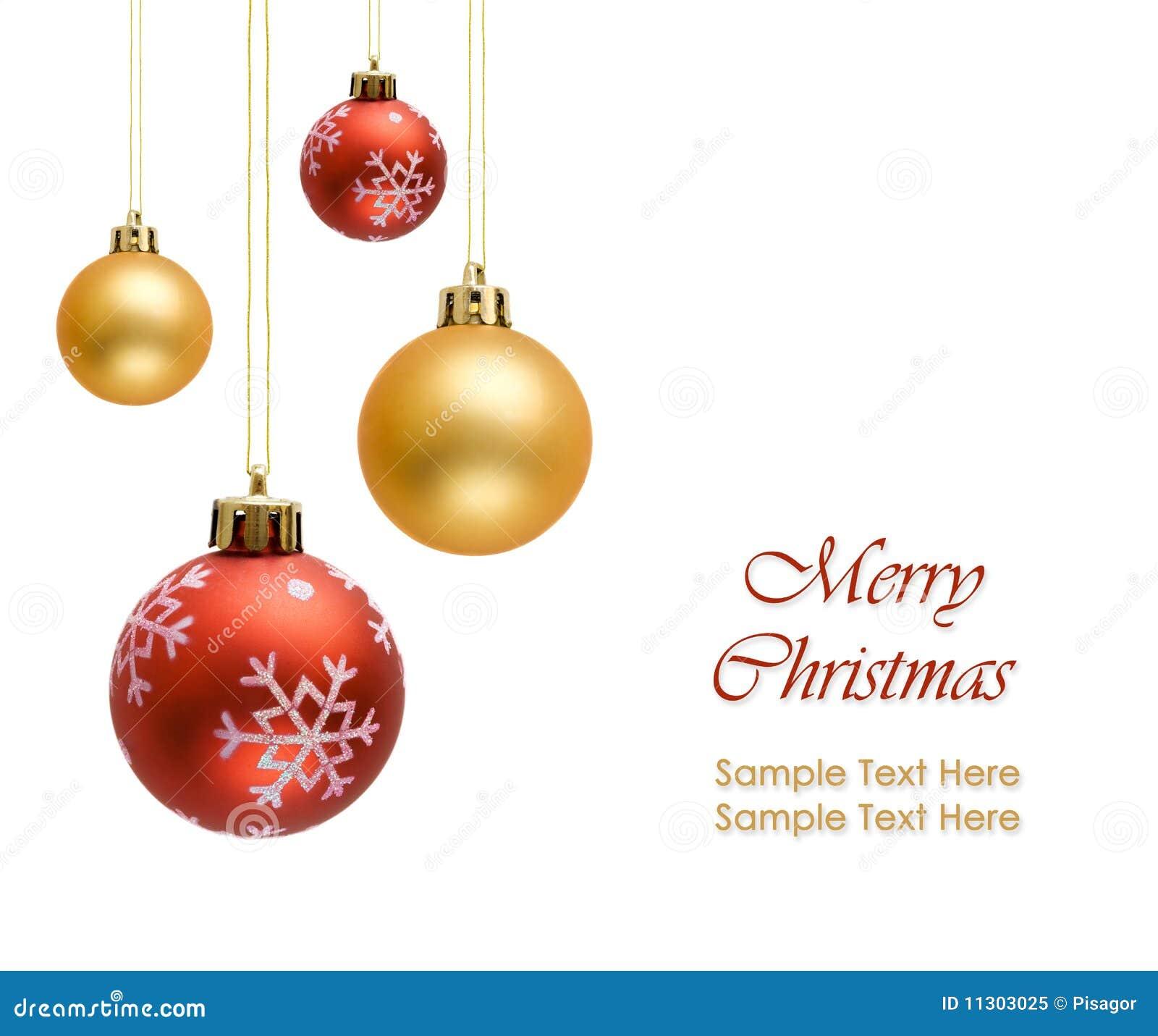Bunte Weihnachtskugeln getrennt auf Weiß