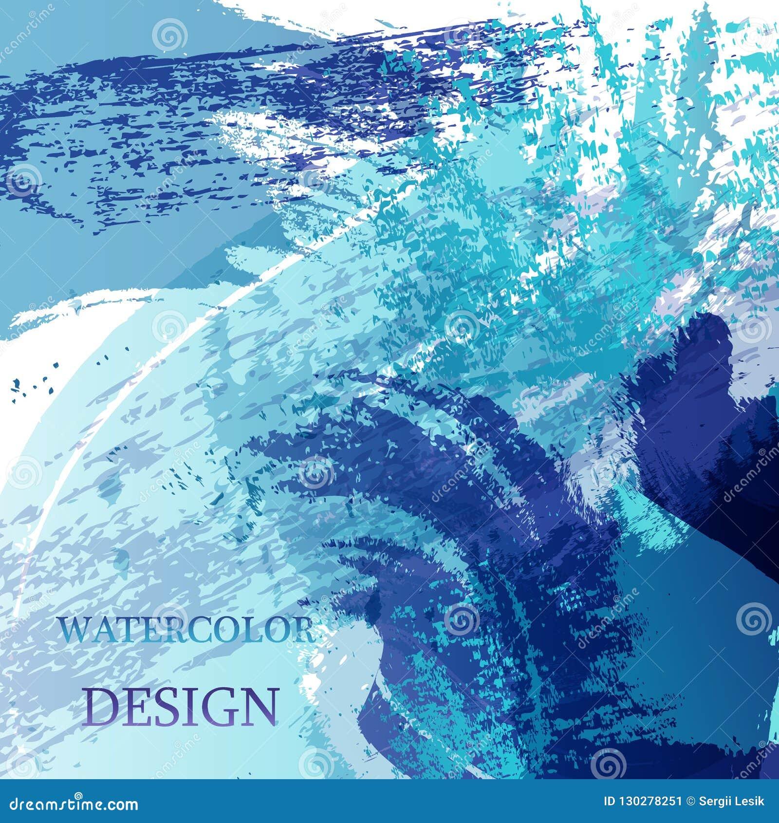 Bunter abstrakter Aquarellbeschaffenheitsfleck mit spritzt Moderner kreativer Aquarellhintergrund für modisches Design