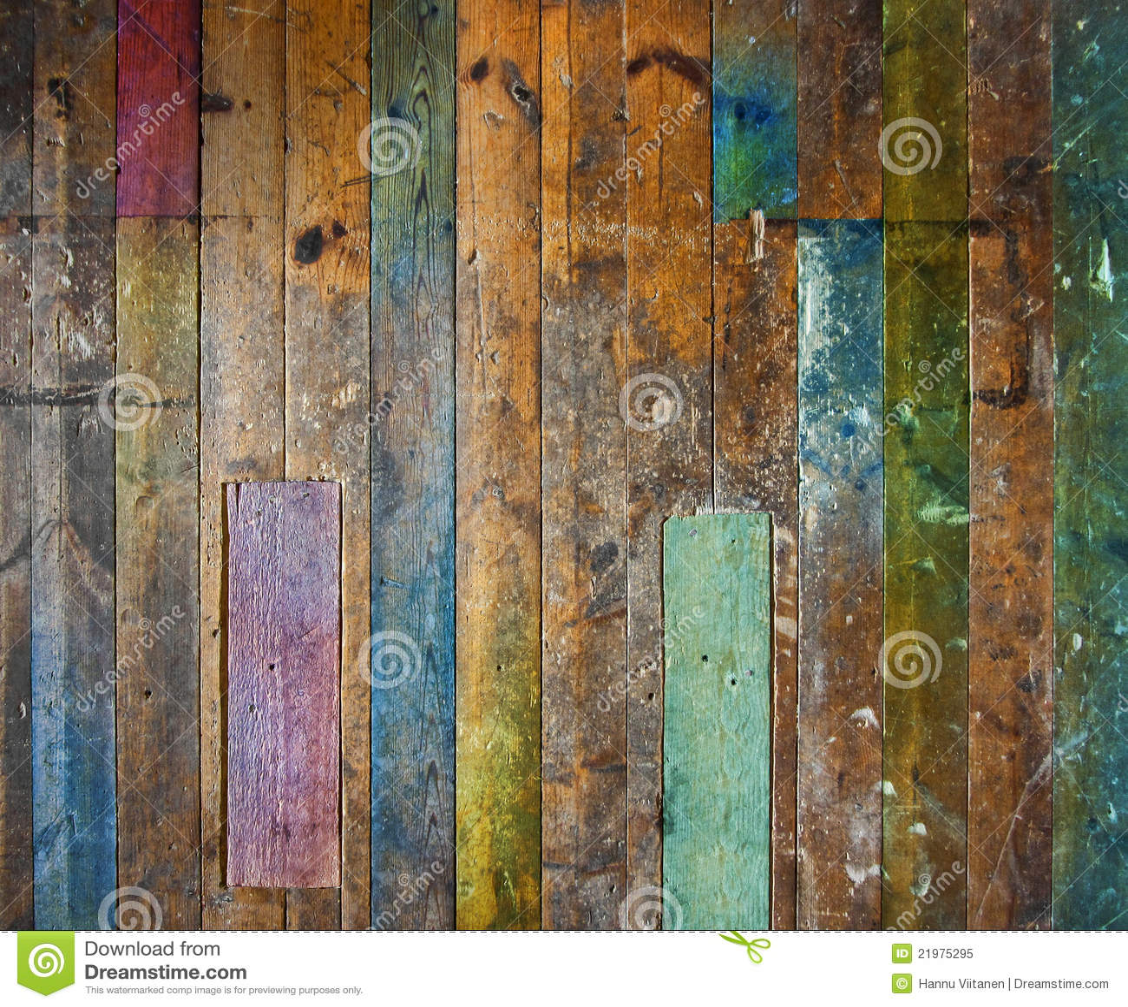 Bunter alter hölzerner Fußboden oder Wand