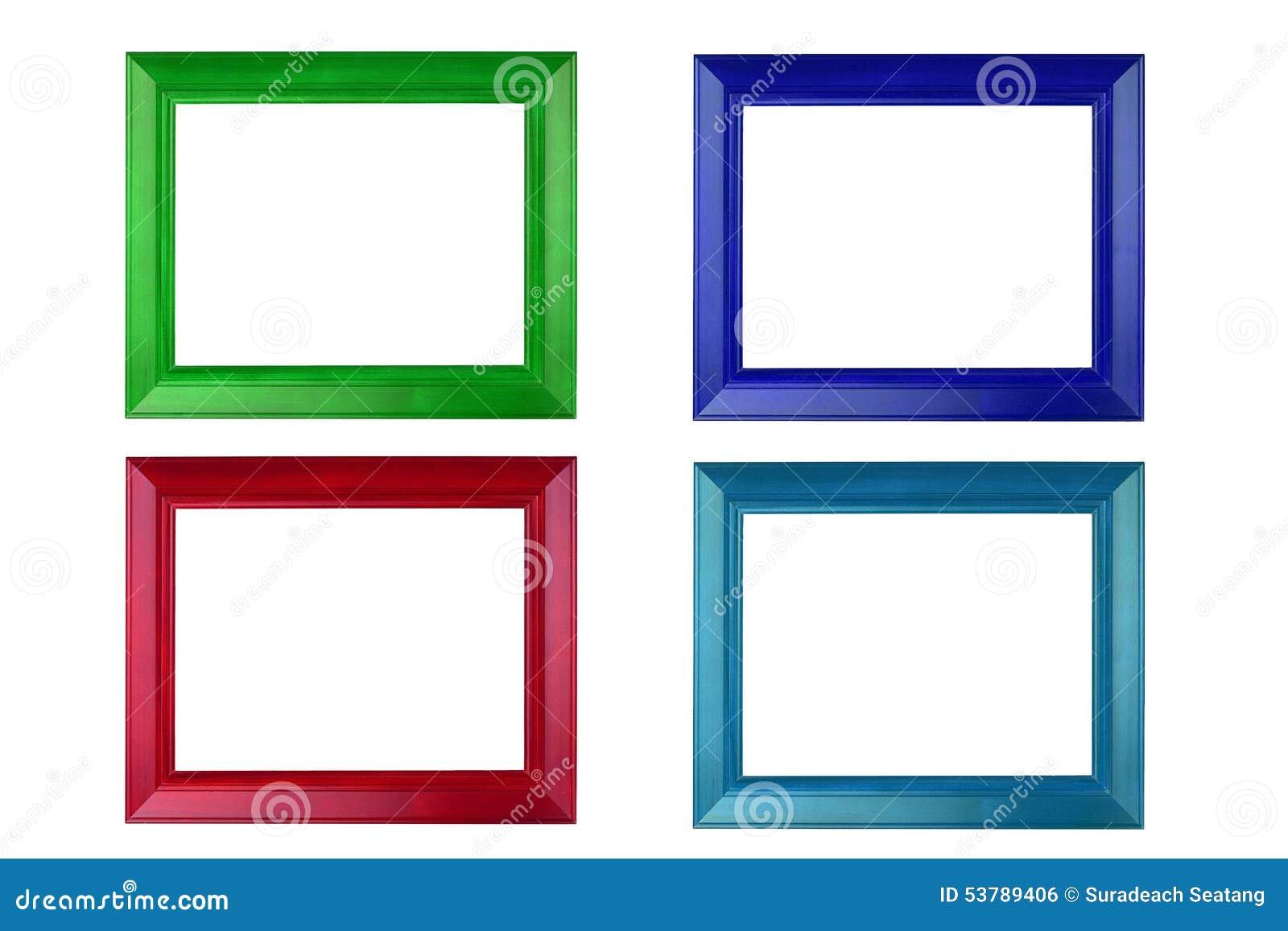Bunter Bilderrahmen stockfoto. Bild von isolat, farbe - 53789406