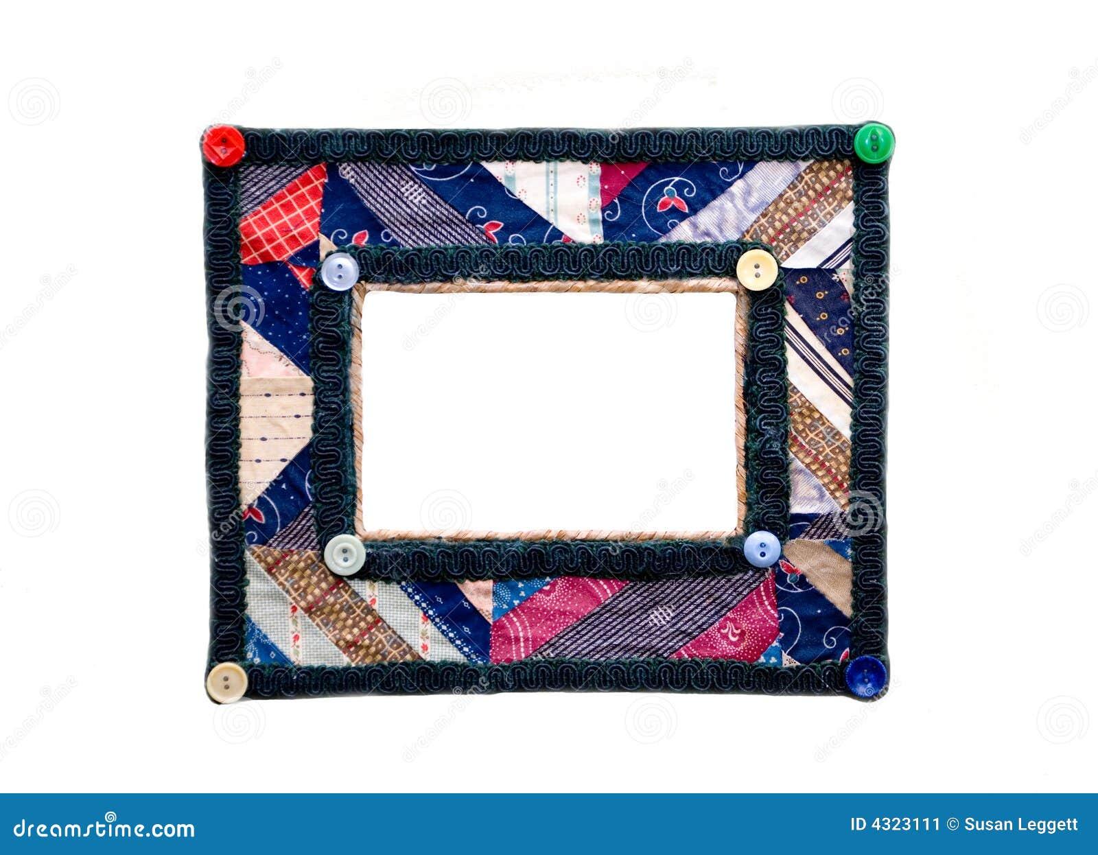 Bunter Bilderrahmen/Steppdecke Stockbild - Bild von farben ...