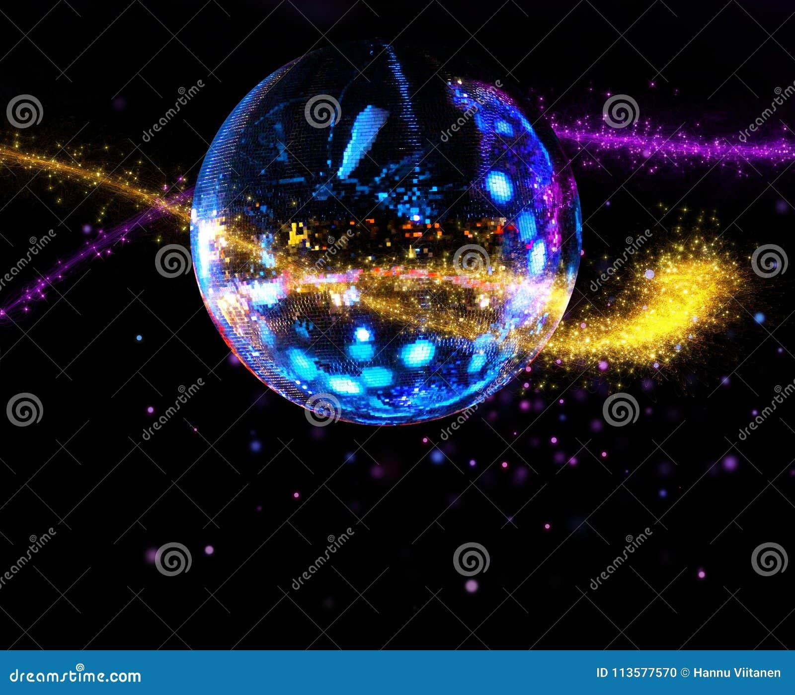 Bunter Discospiegelball-Lichtstrom