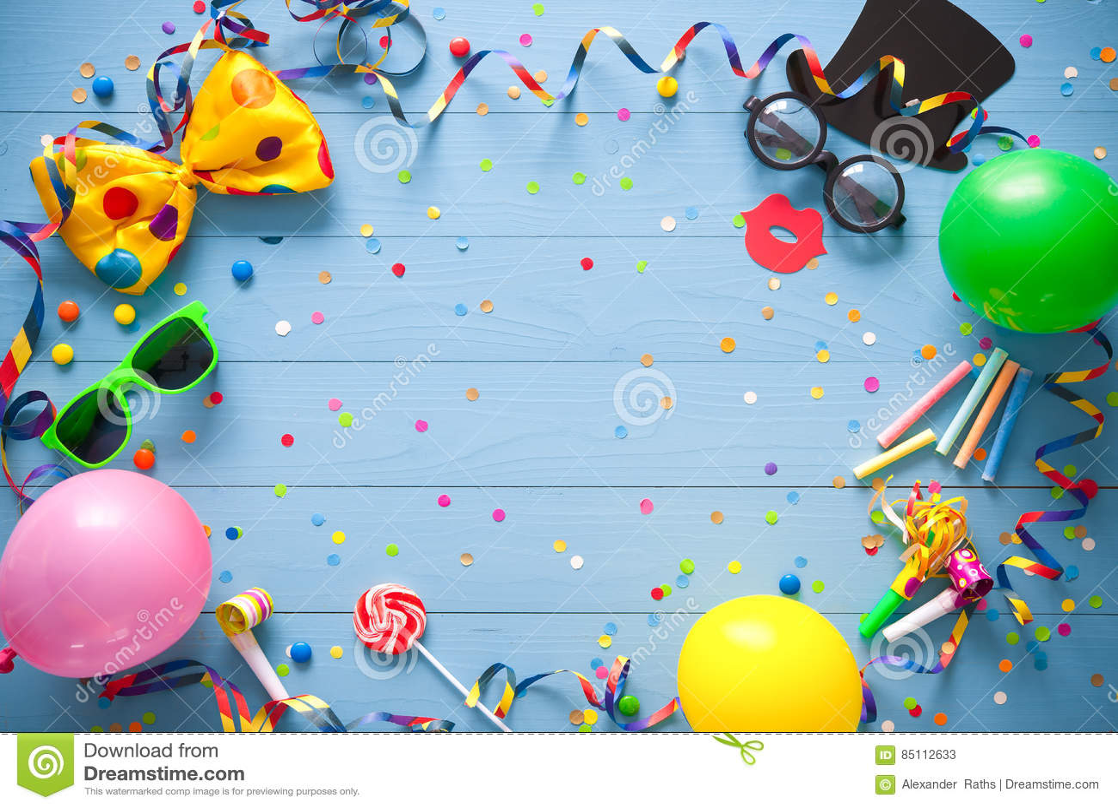 Bunter Geburtstags- oder Karnevalshintergrund