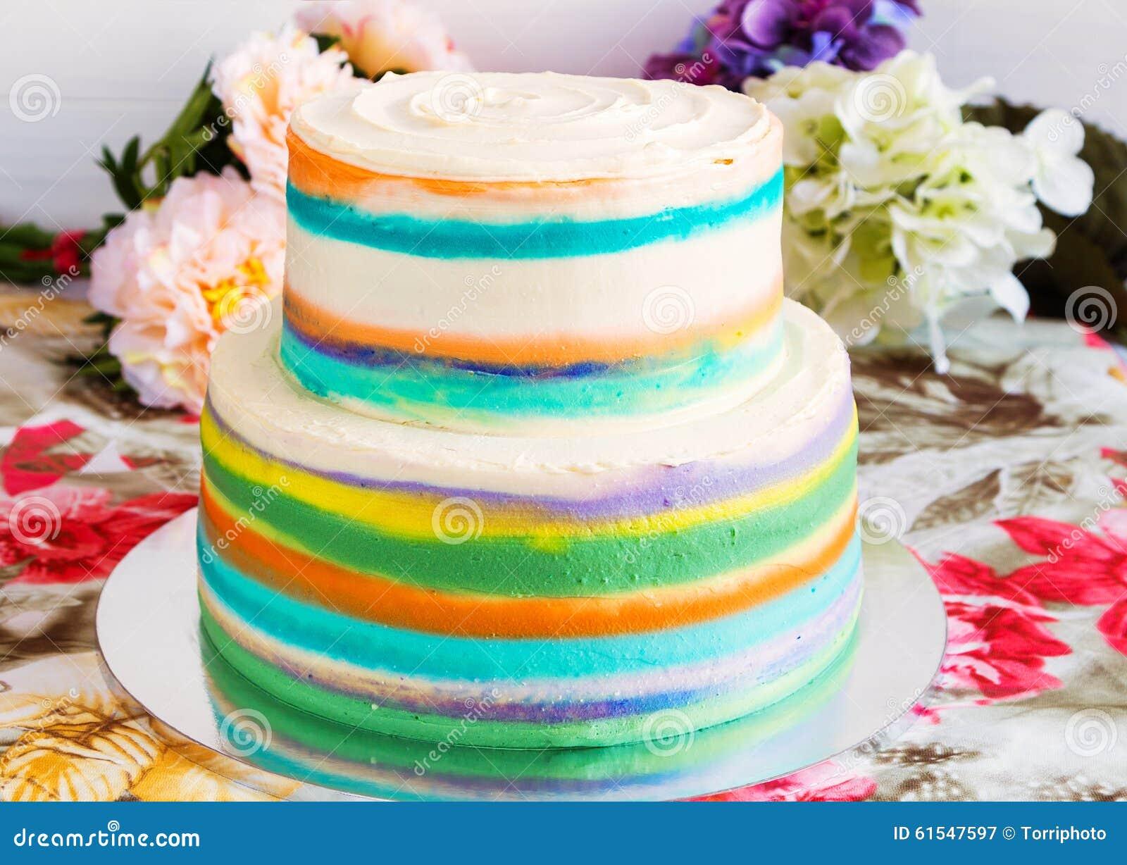 Bunter Kuchen Stockbild Bild Von Hintergrund Schicht 61547597
