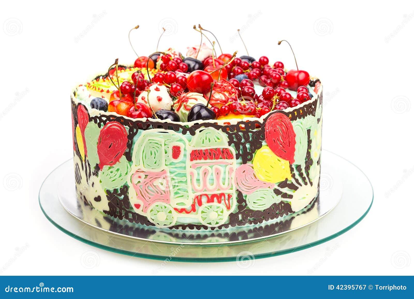 Bunter Kuchen Fur Kinderpartei Stockbild Bild Von Hintergrund